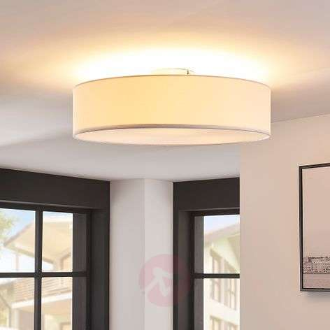 Plafón LED Sebatin de tela color blanco-9620329-32