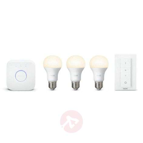 Set inicio Philips Hue White 3 x 9,5W E27+puente