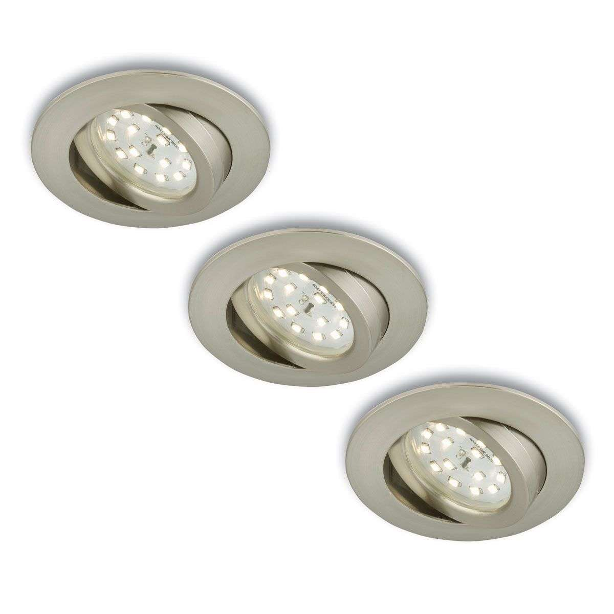 Foco LED empotrable girat., 3 unid., mate-níquel-1510288-31