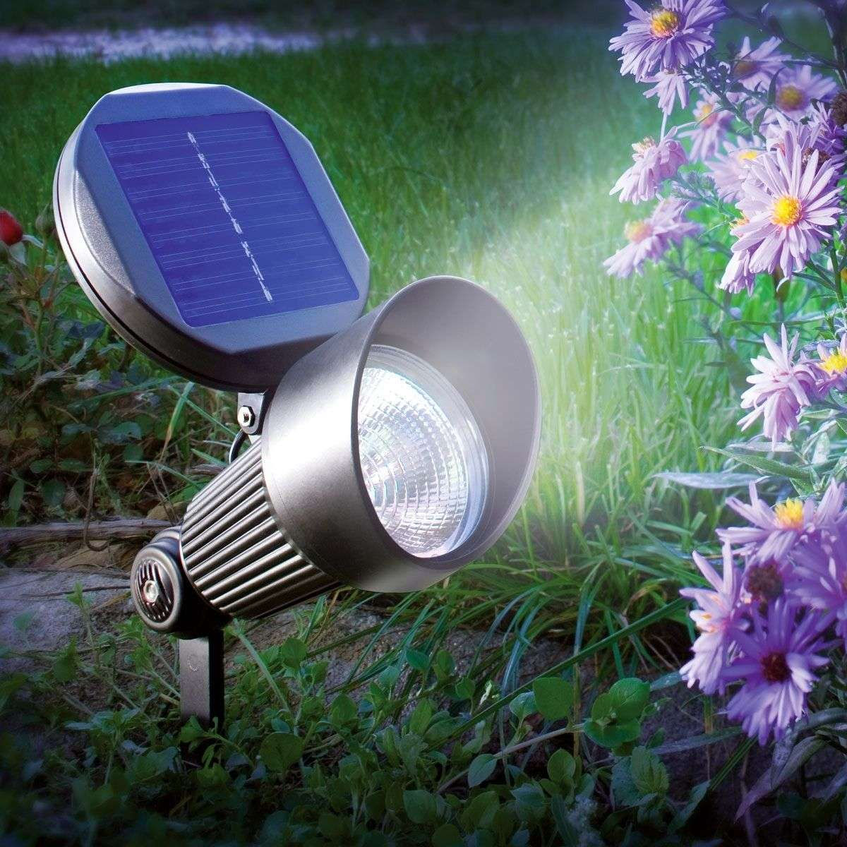 Foco solar LED de pared y suelo Spotlight-3012041-31