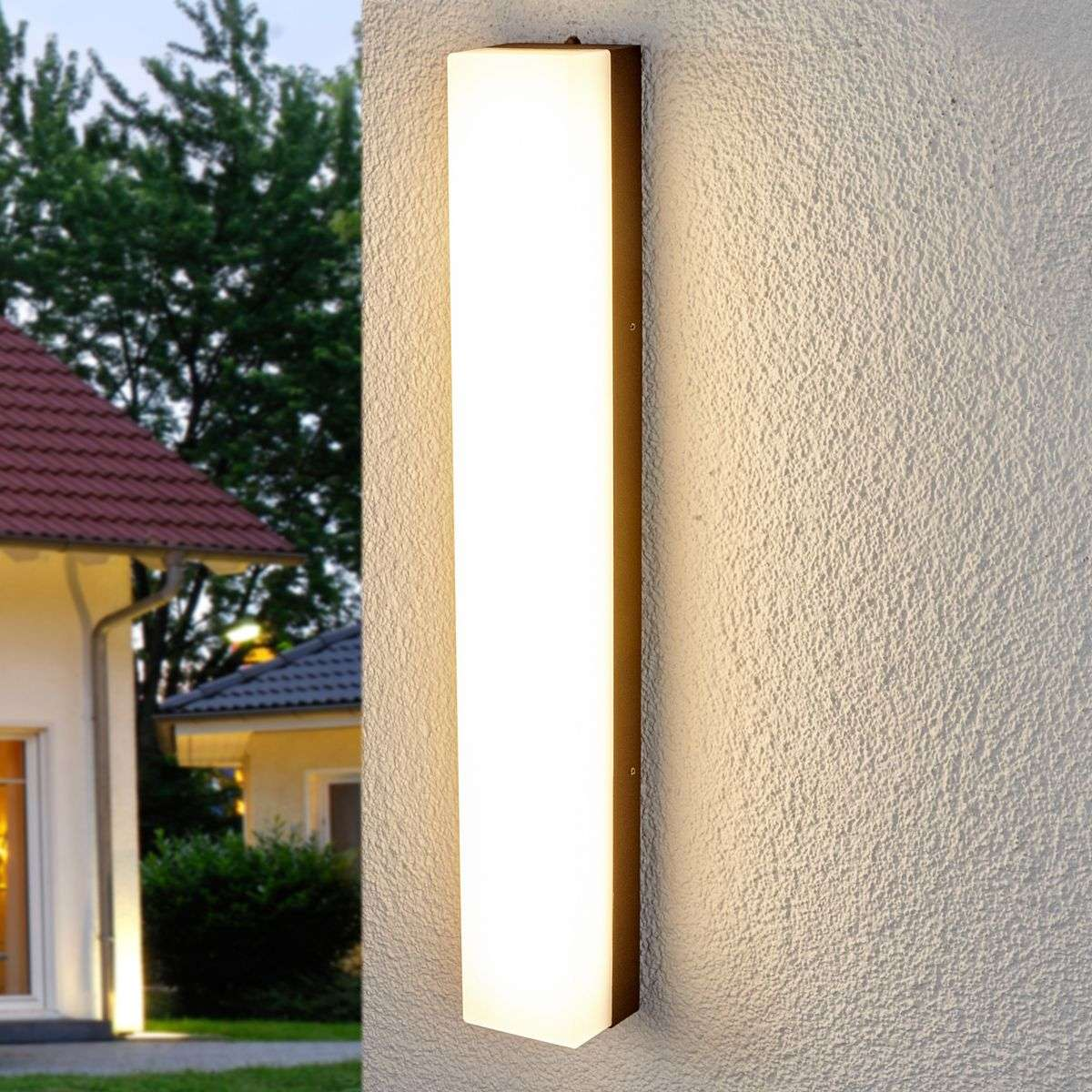 Compra l mpara de pared exterior led muy luminosa cahita for Plafones para pared exterior