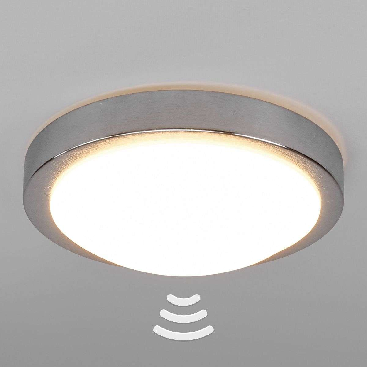 Compra l mpara techo led alum aras con sensor para ba o for Lamparas de pared para bano