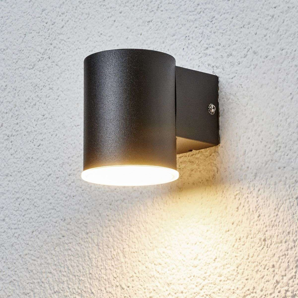 Compra sencilla l mpara pared exterior led morena negra for Lamparas led para exteriores