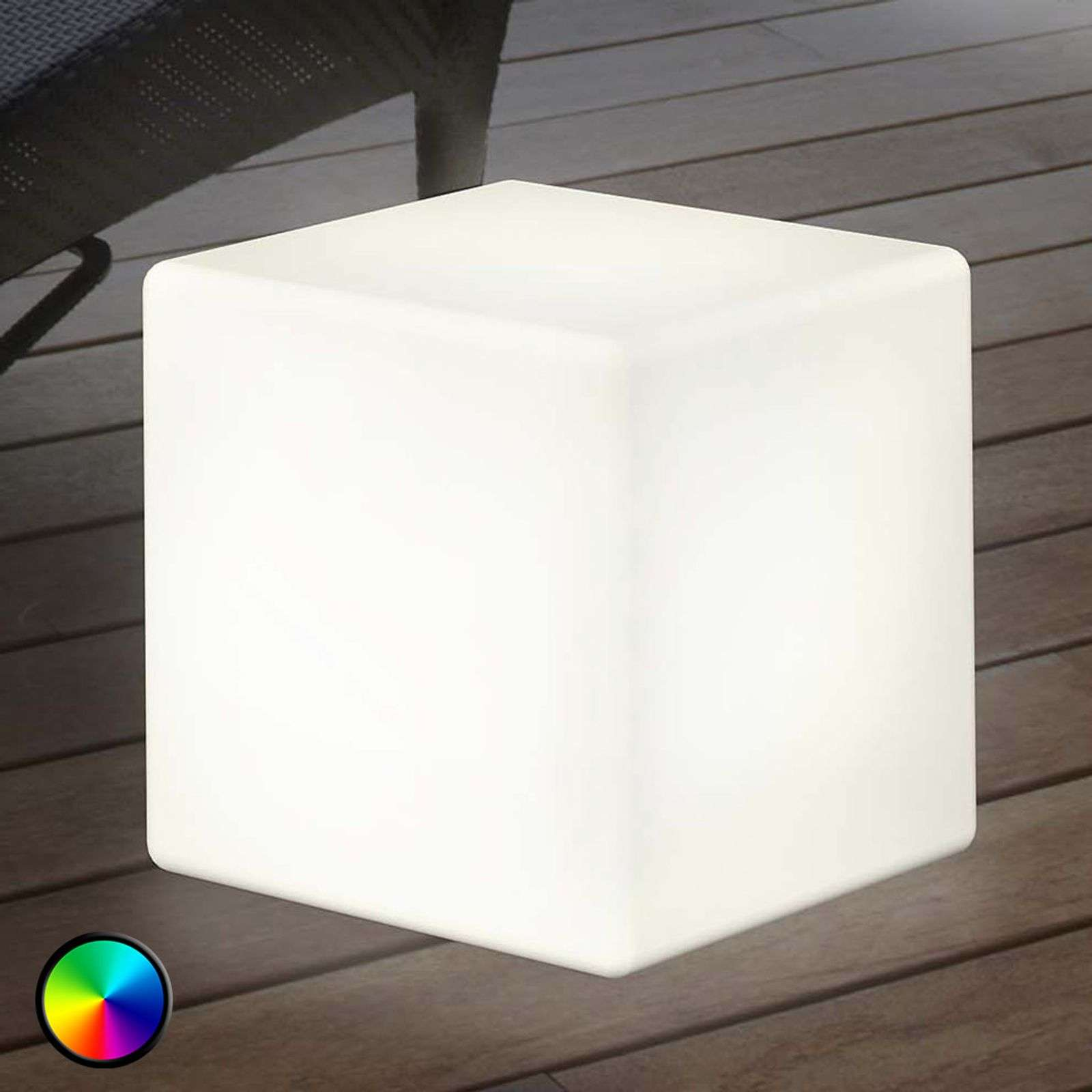 lámpara decor. exterior LED Shining Cube 43 cm