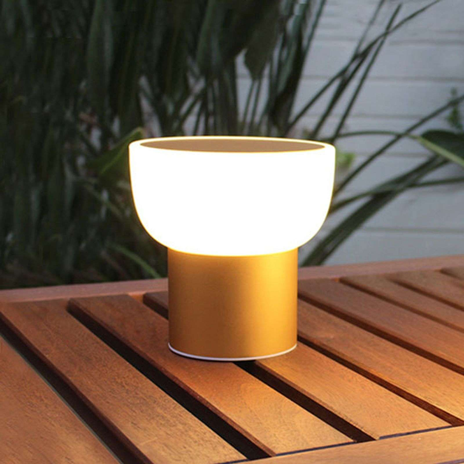 Luz decorativa LED Patio, dorado 16 cm 1 USB