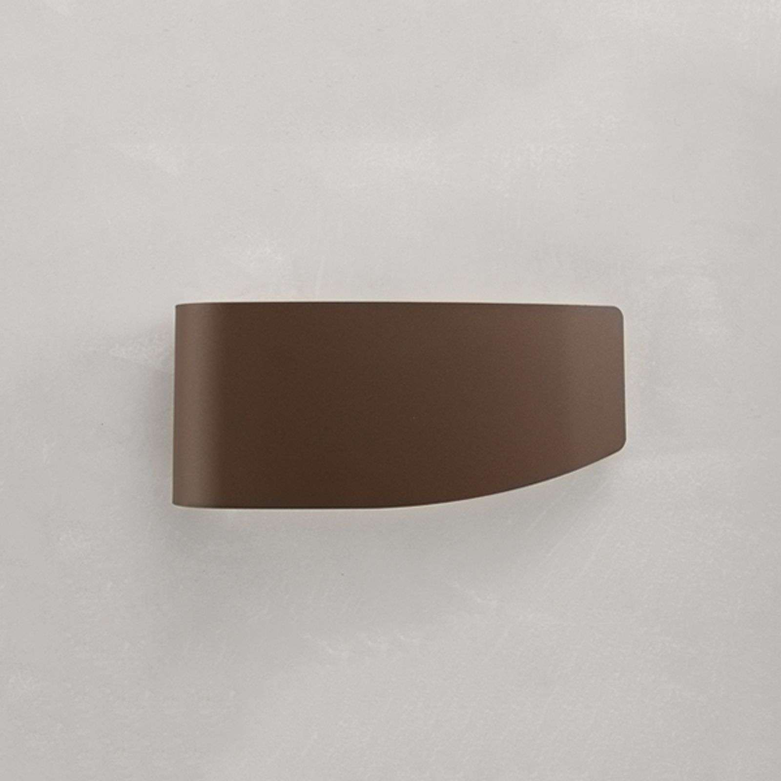 Lámpara de pared Virgola diseño decorativo, marrón