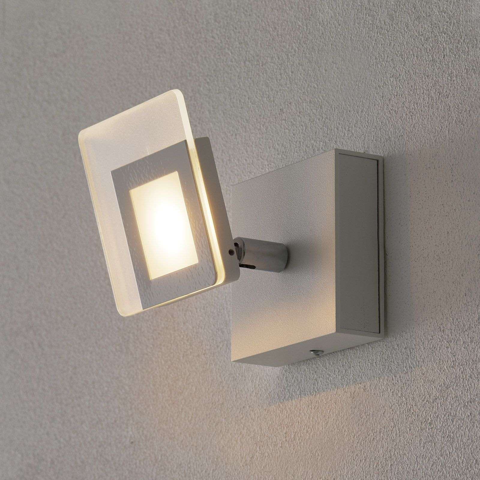 Foco LED de pared Line en color blanco