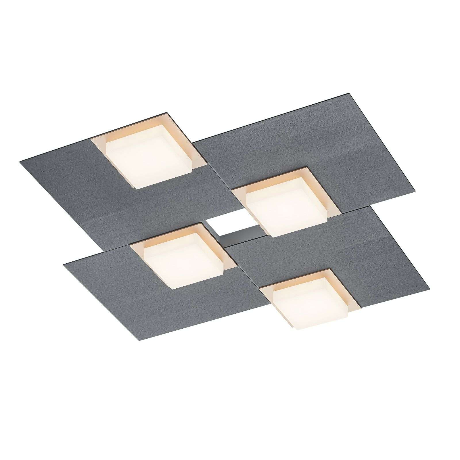 BANKAMP Quadro lámpara LED de techo 32 W antracita