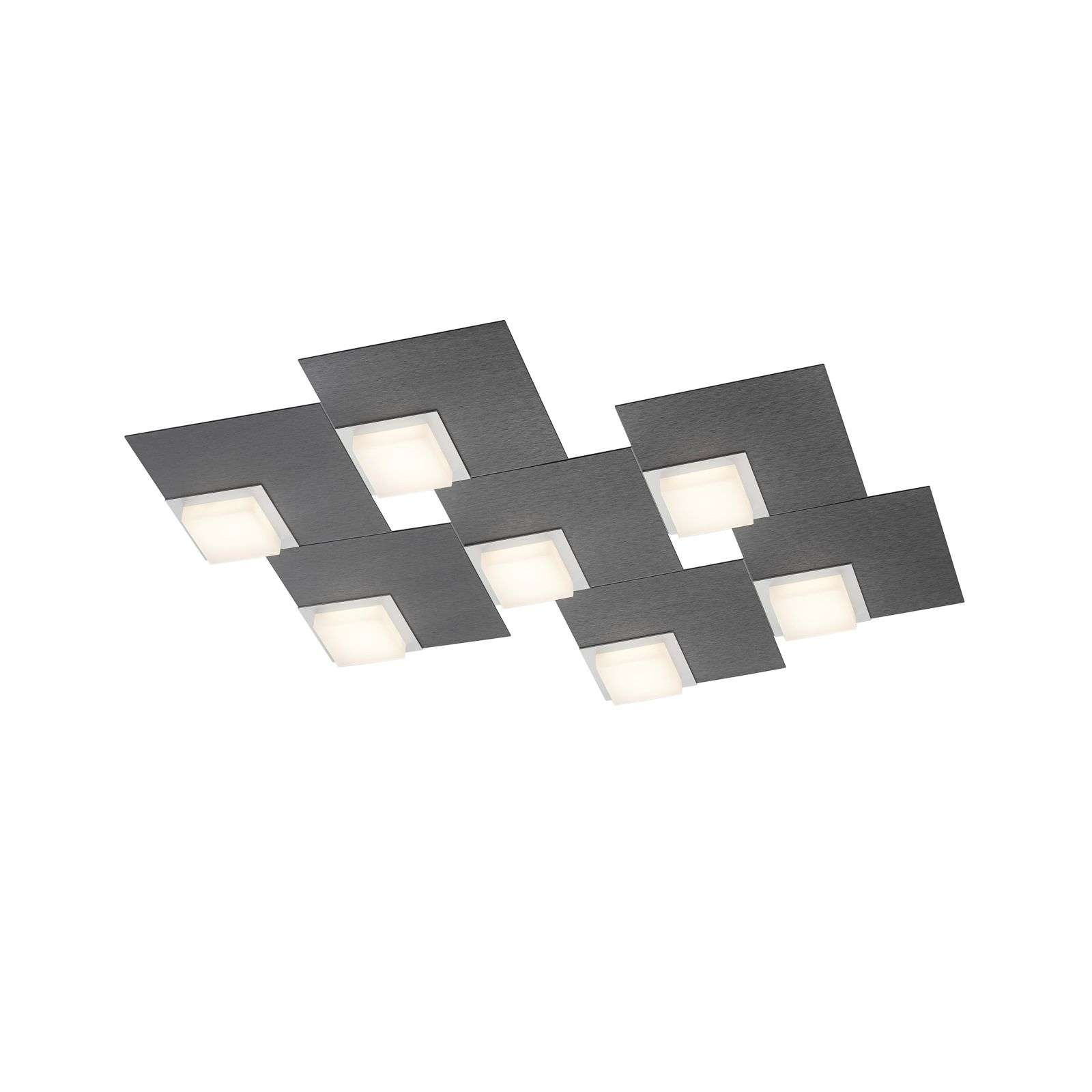 BANKAMP Quadro plafón LED 64 W, antracita