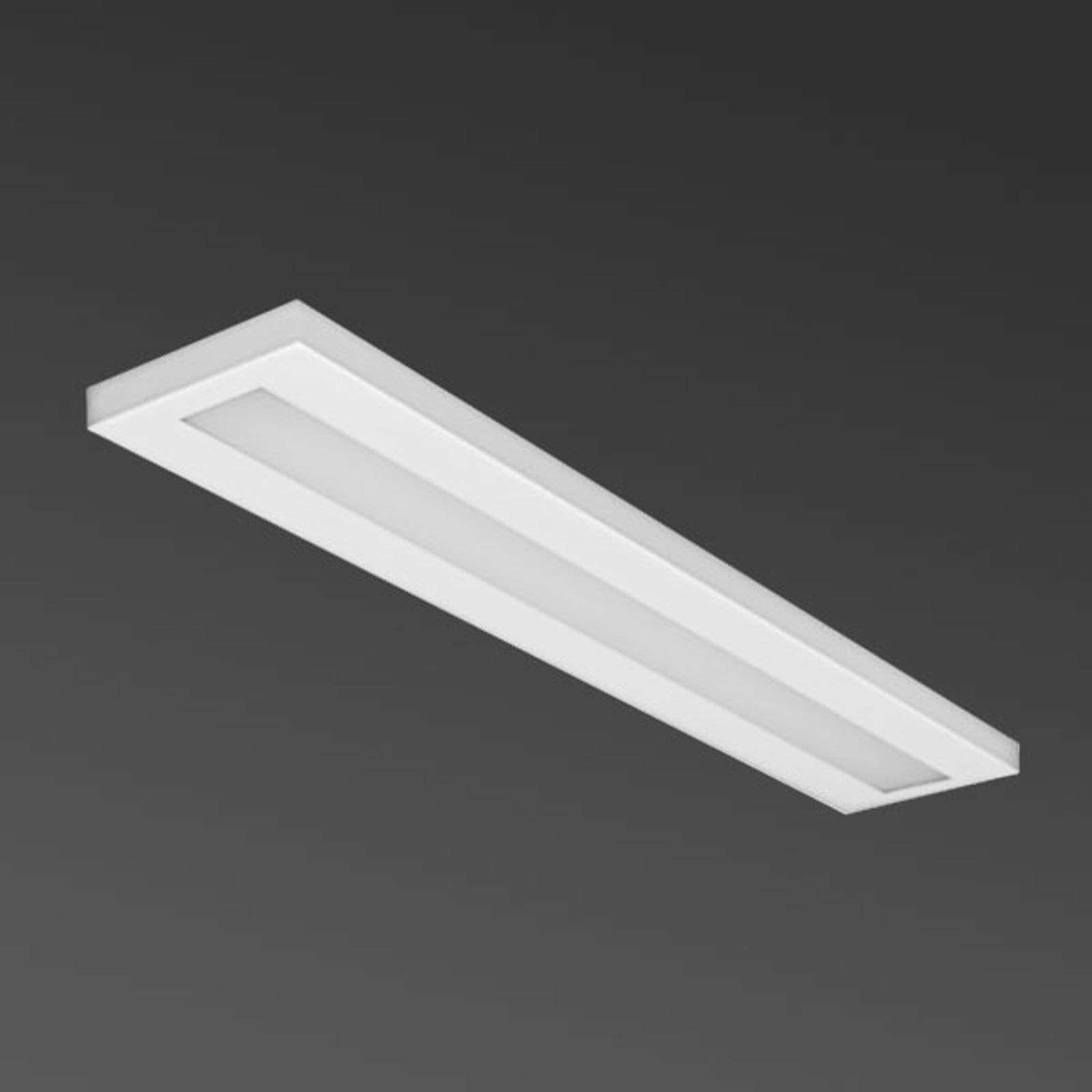 Plafón LED empotrado blanco, rectangular 48 W