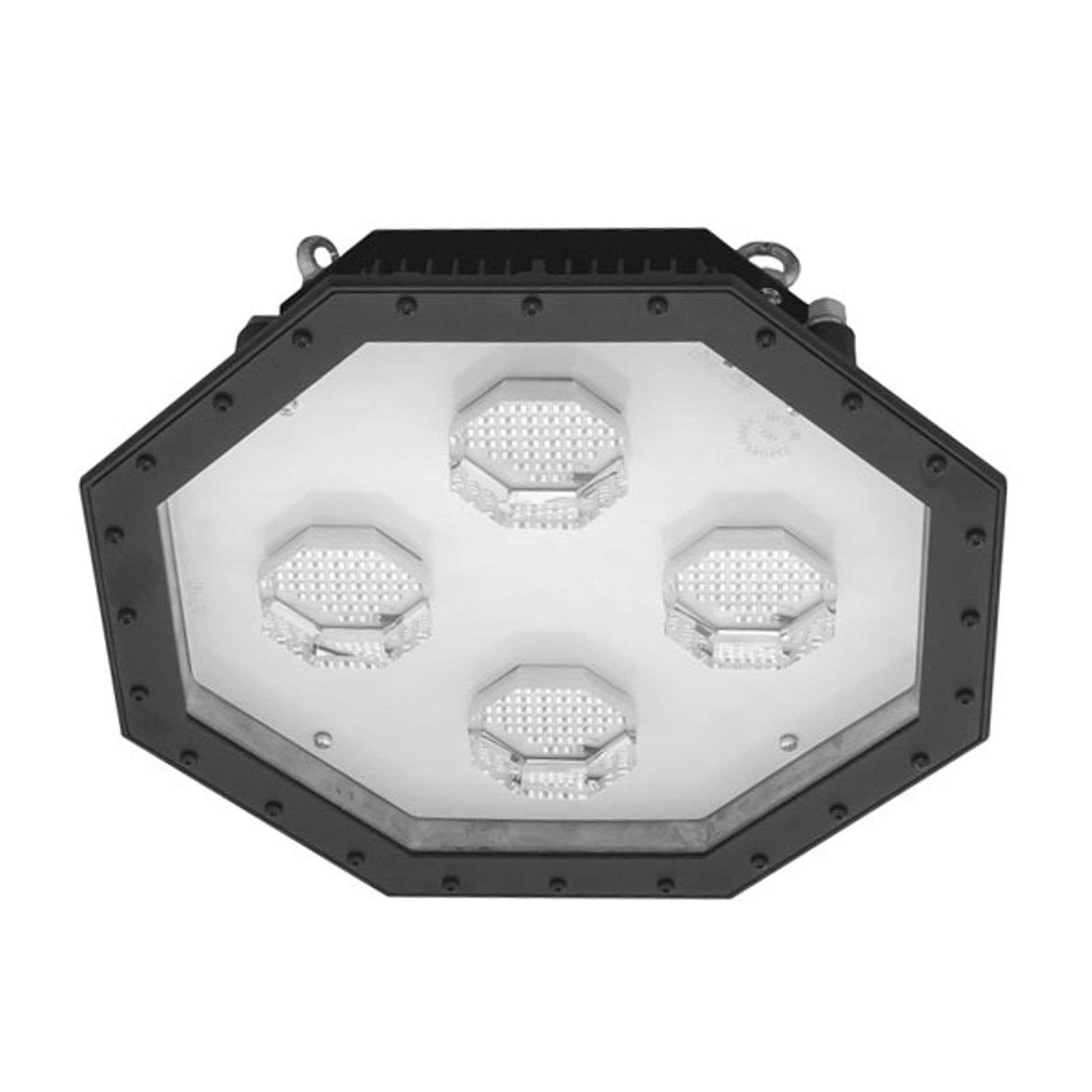 Foco LED para naves Giga octogonal IK10, 175 W