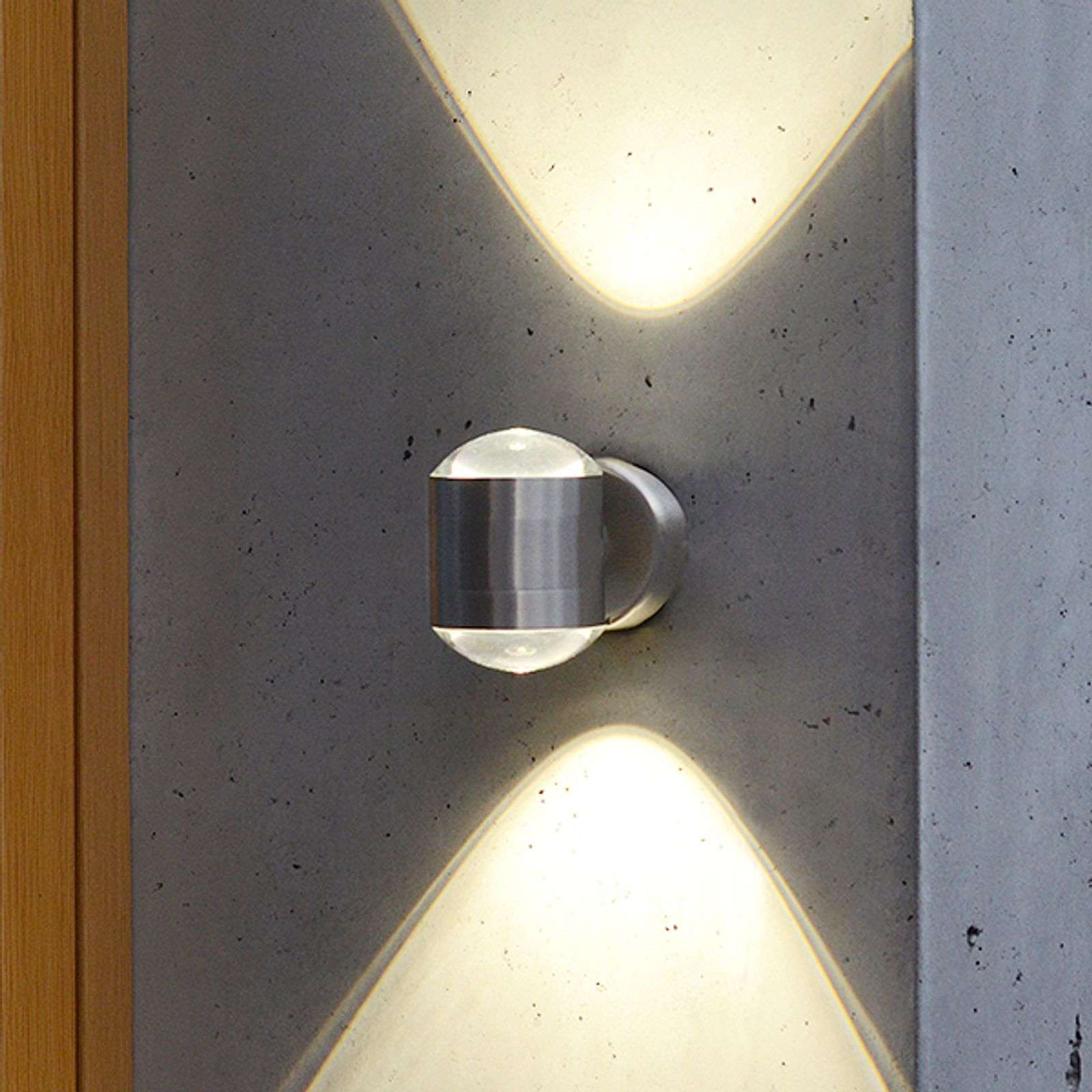 Aplique genuino de pared exterior LED Cristal