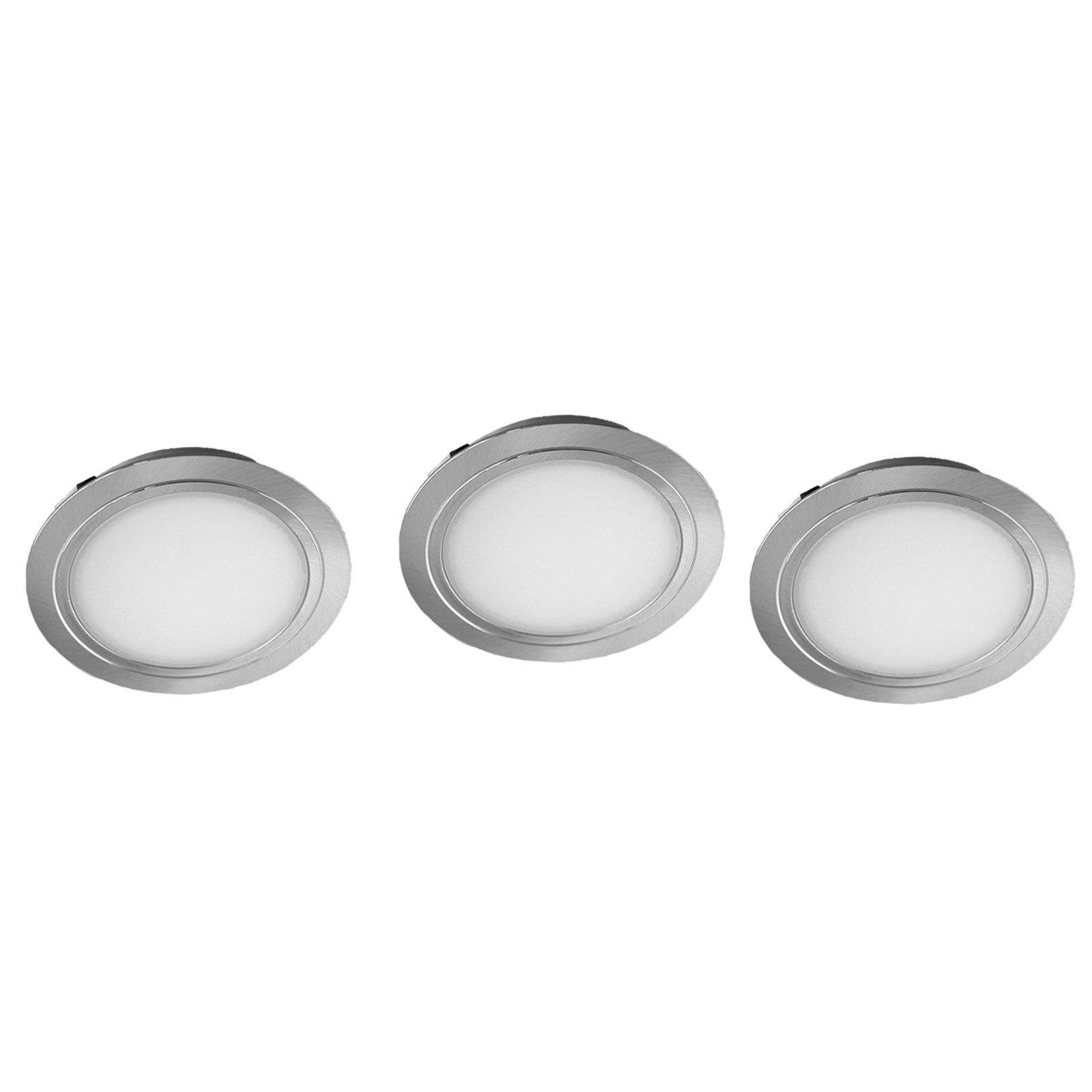 Set de 3 focos LED empotrables Cubic 68 CF