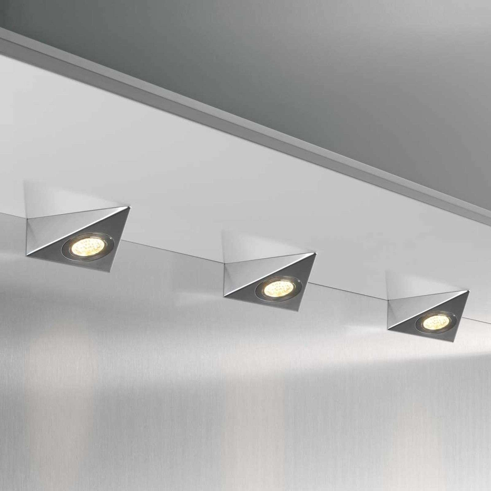 DHL CF - Set 3 lámparas LED bajo mueble triangular