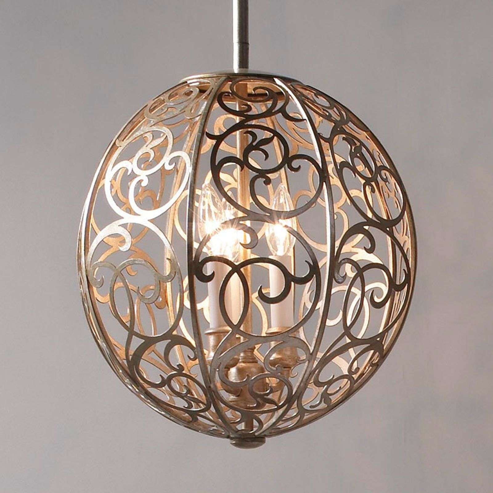 Arabesque lámpara de suspension, patrón artístico