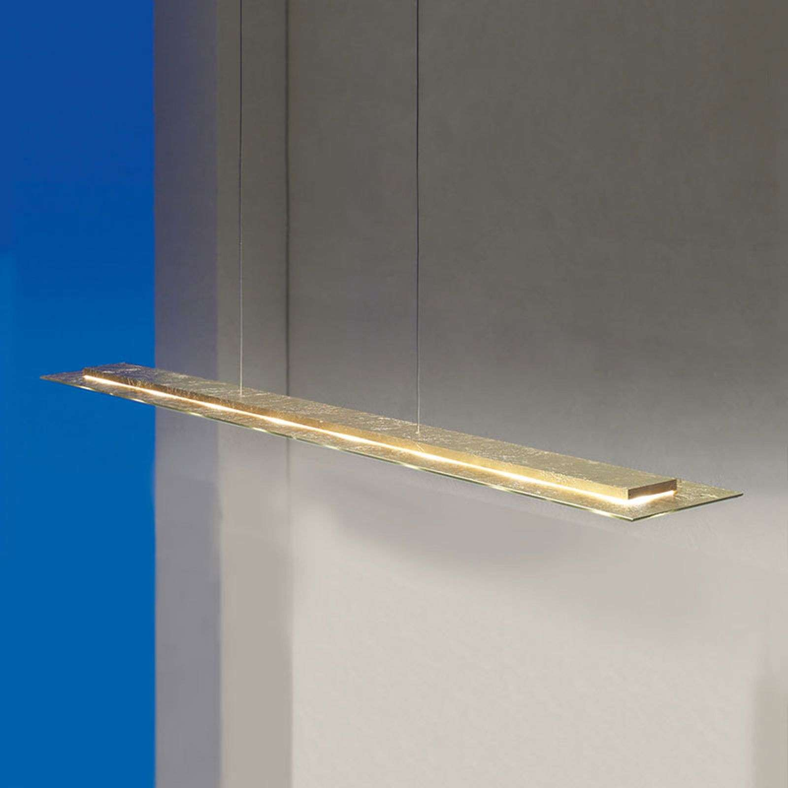 Escale Skyline lámpara colgante LED oro, atenuable