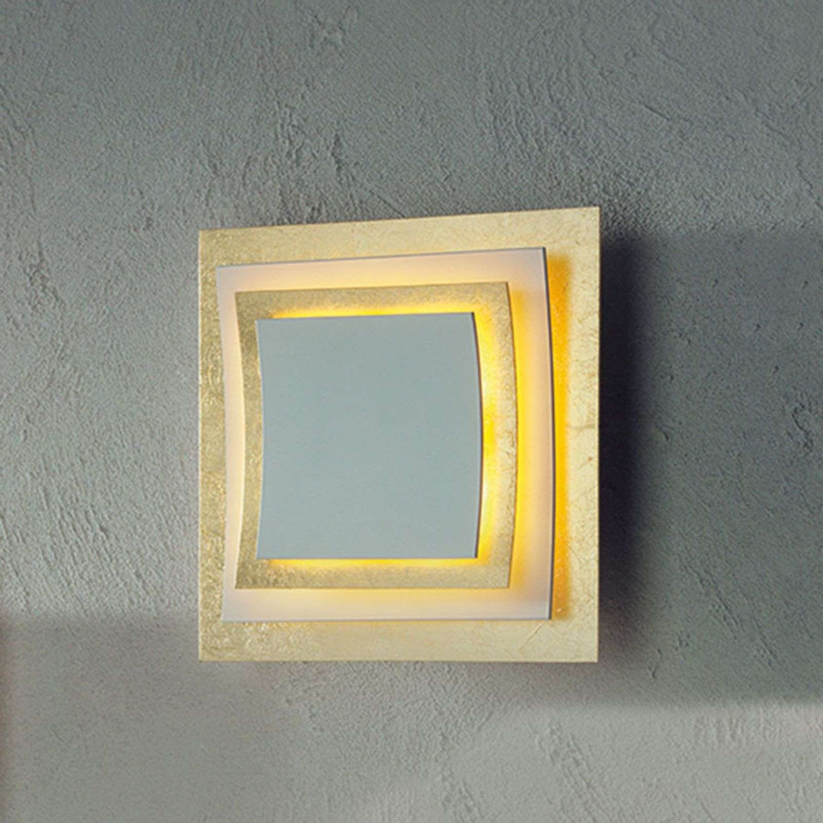 Escale Pages - aplique LED en pan de oro, 22 cm