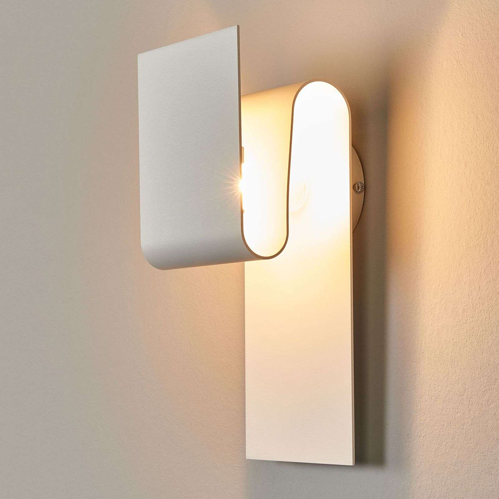 Escale Fold - aplique LED en blanco mate