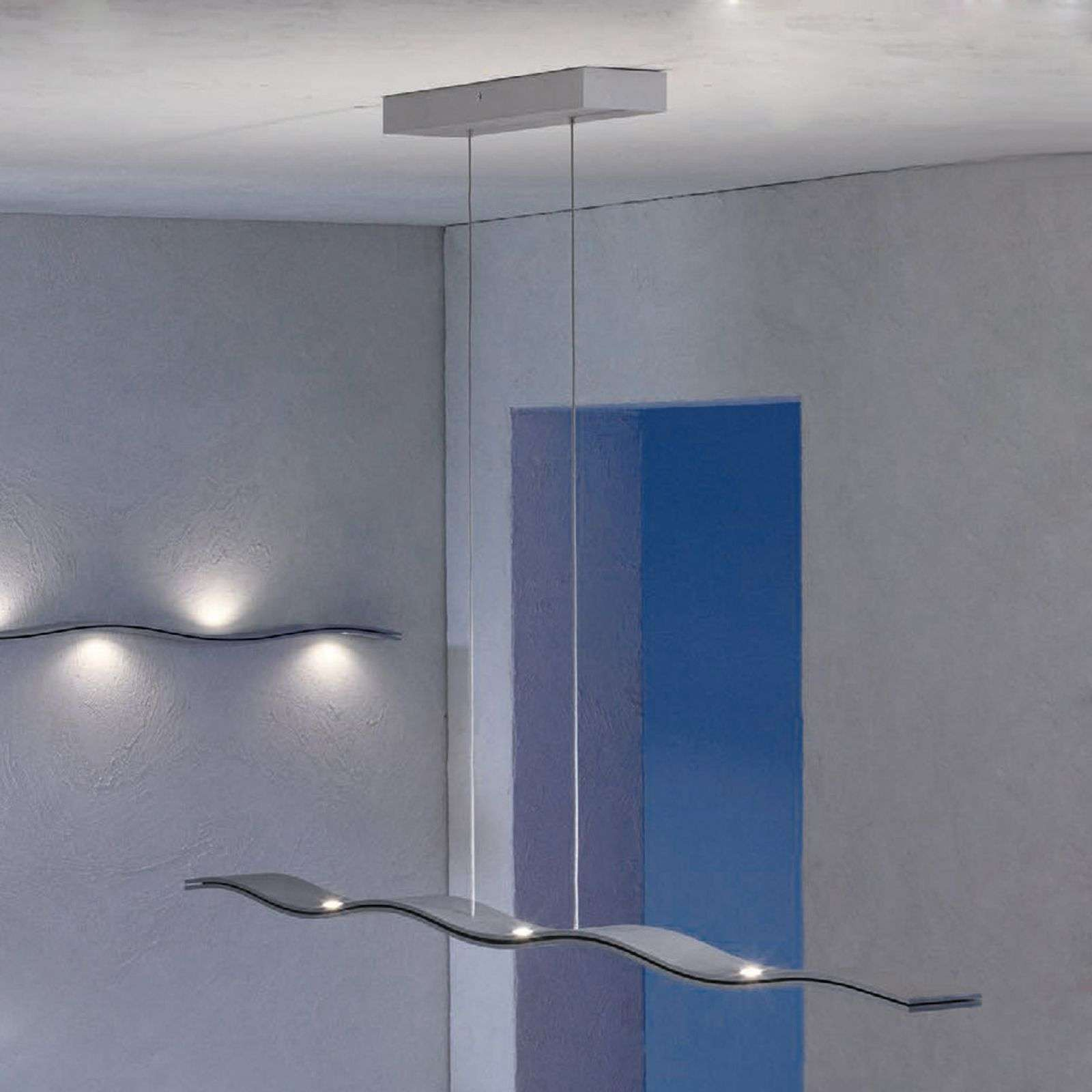 Escale Fluid - lámpara colgante LED ondulada 100cm