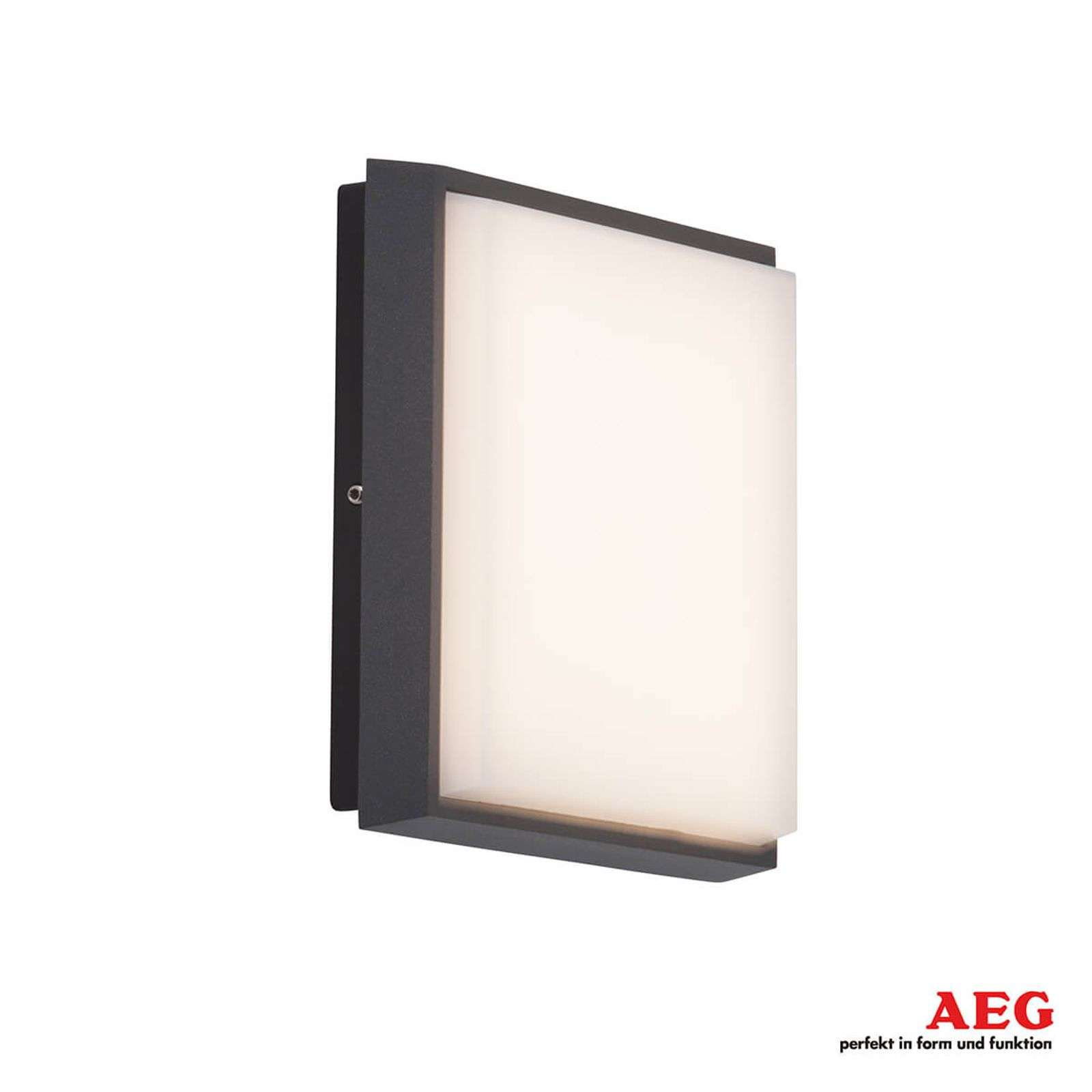 Aplique LED para exterior Letan Square angular 9 W