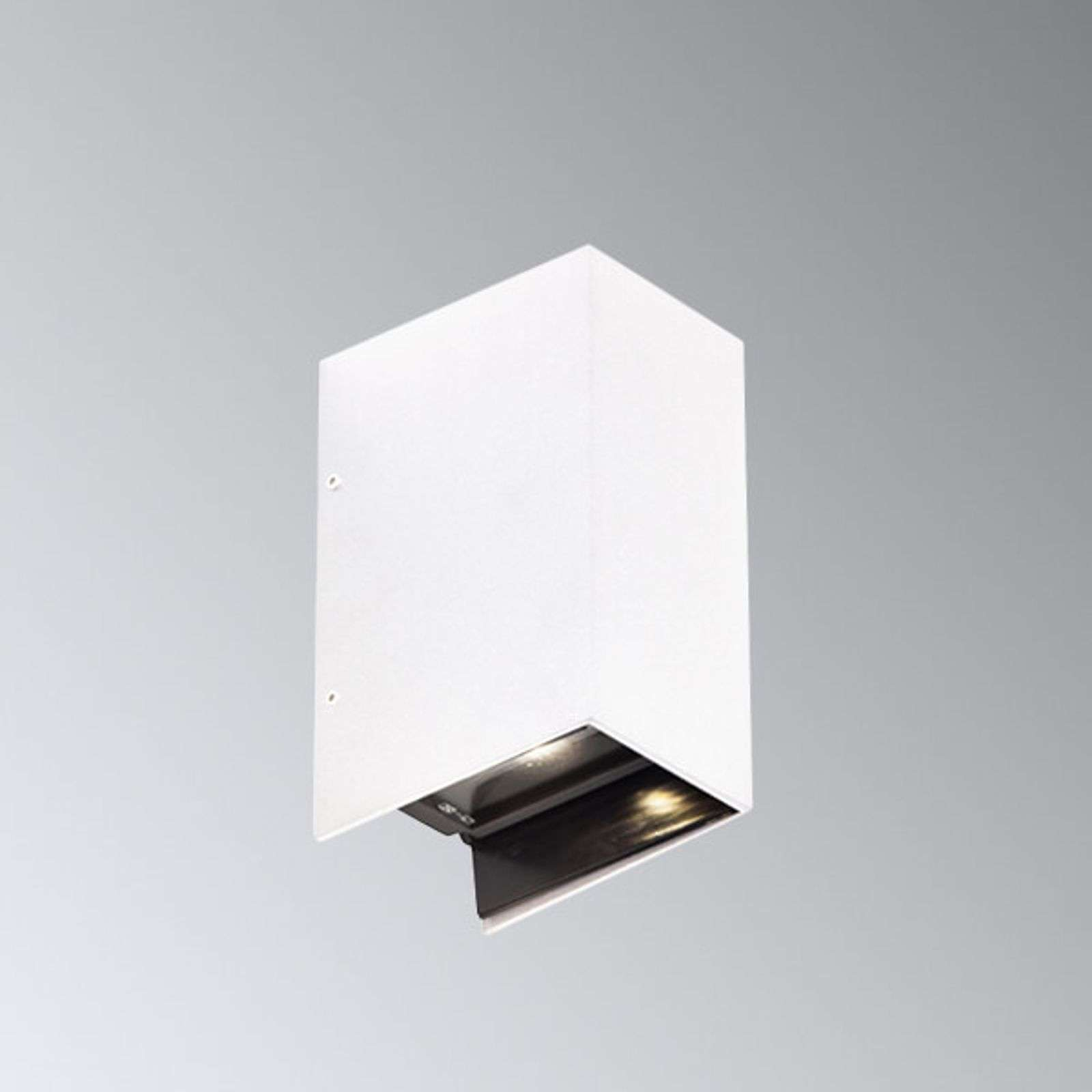 Aplique LED exterior Adapt, blanco 2 bombillas