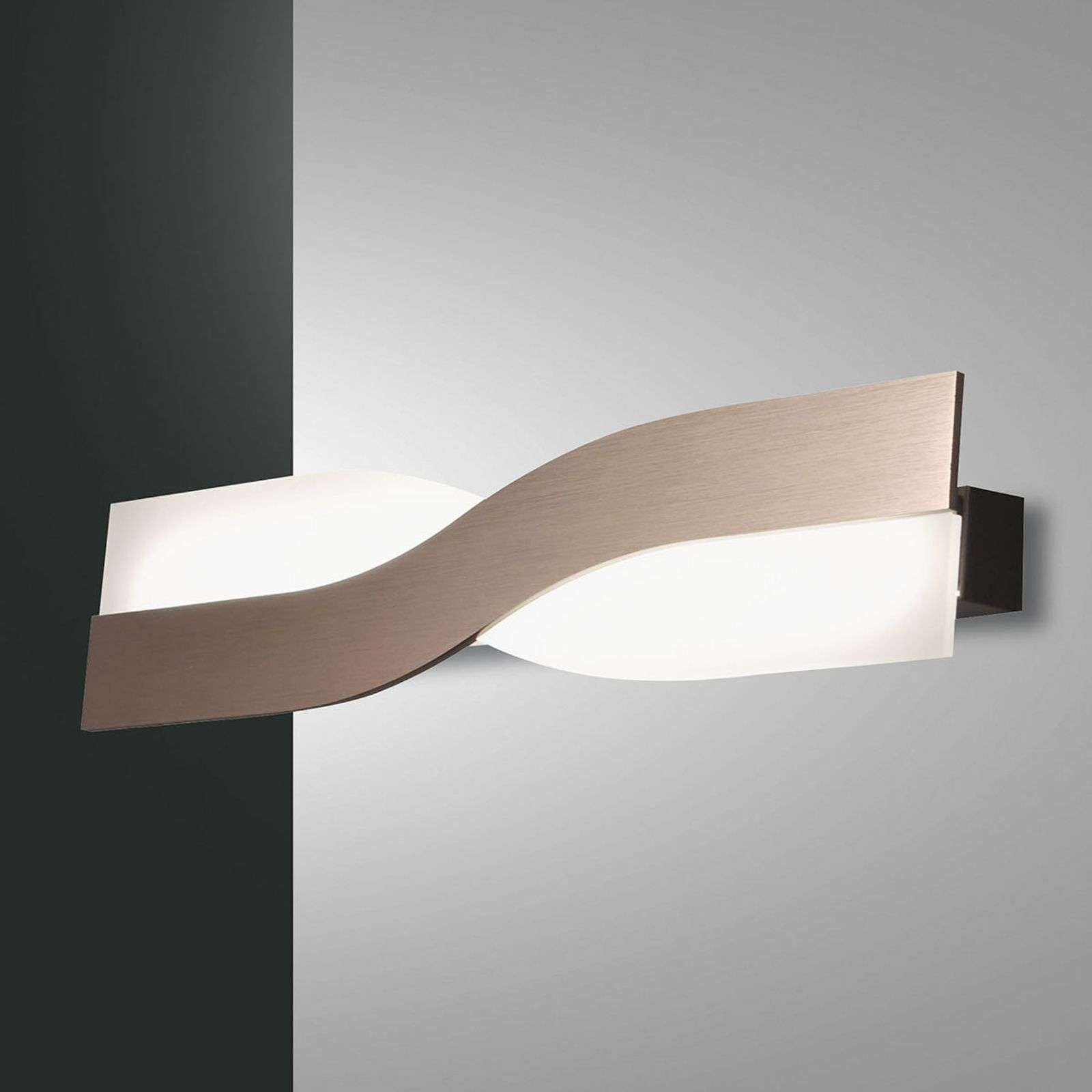 Hermoso aplique LED Riace, 50 cm, bronce