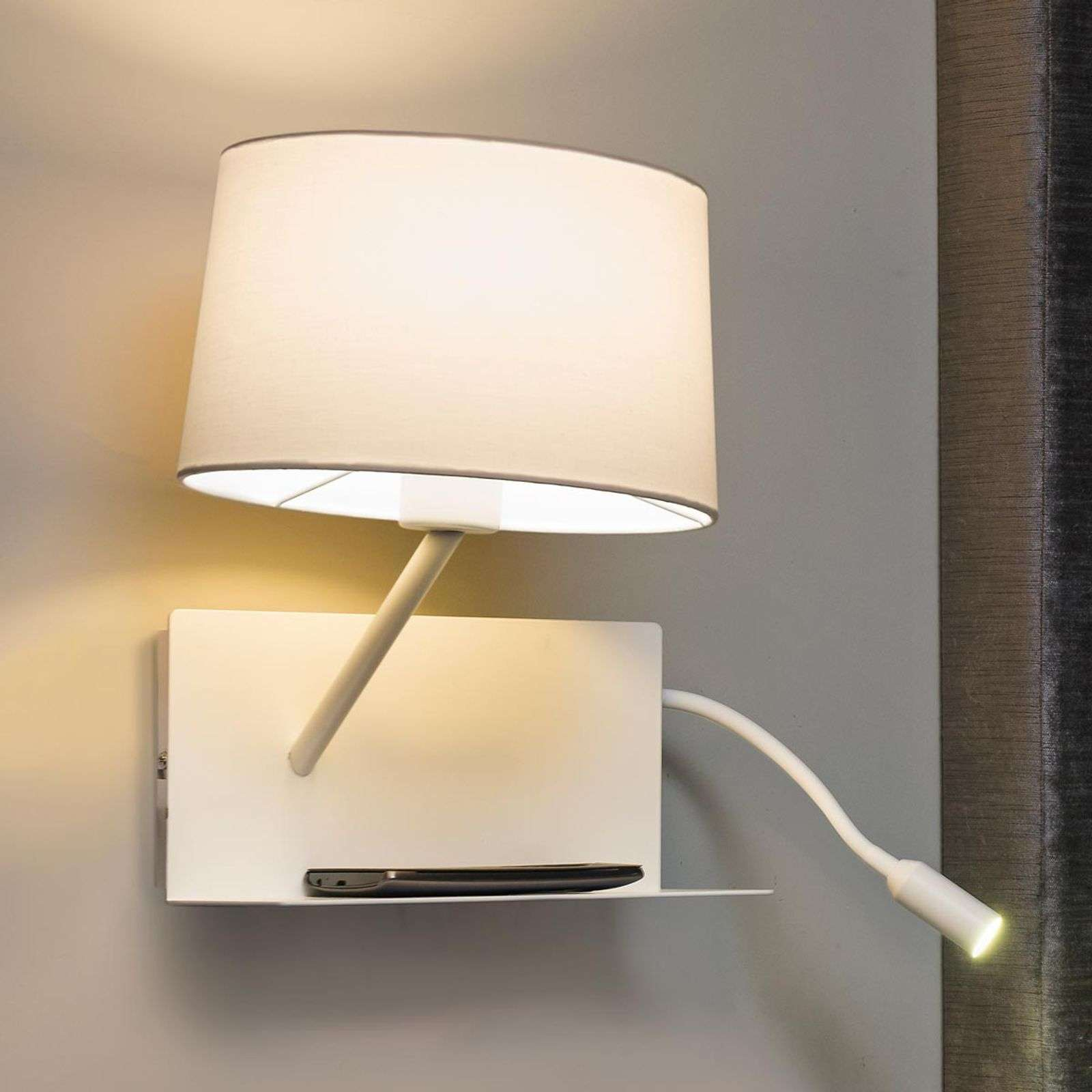 Aplique de pared Handy con brazo de la lectura LED