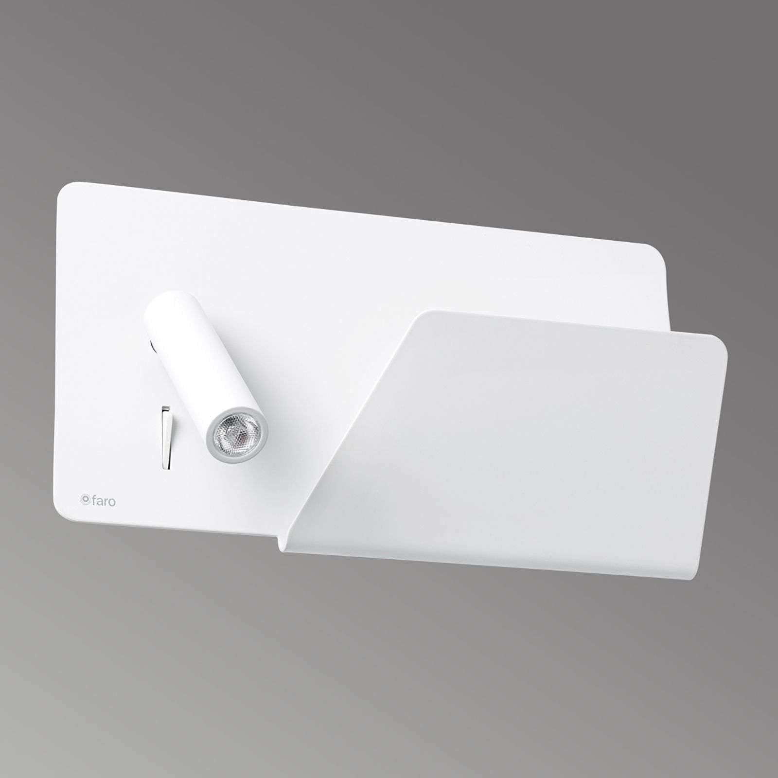 Aplique de pared LED Suau con puerto de carga USB