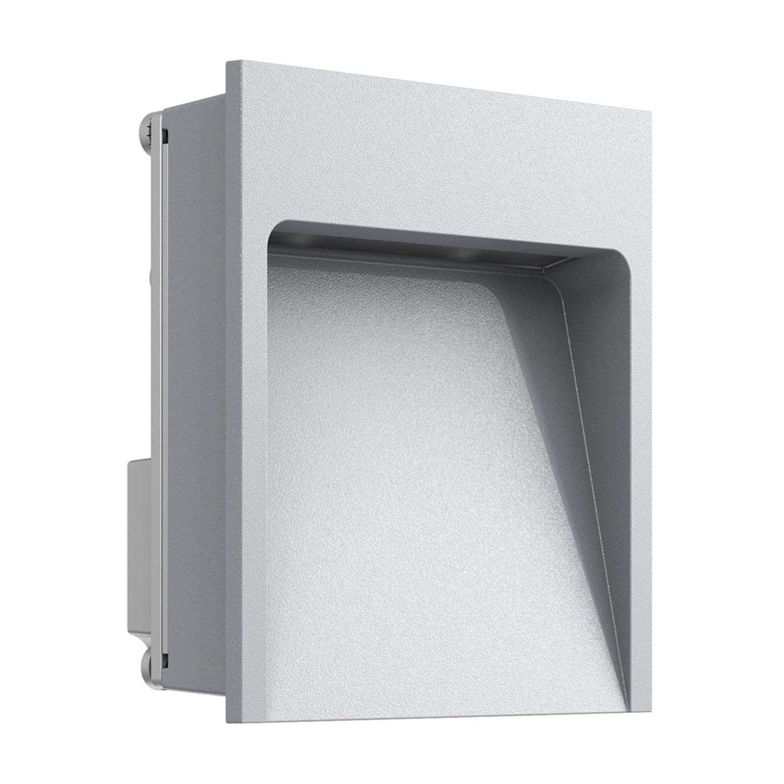 Foco de pared LED empotrable My Way pequeño, gris
