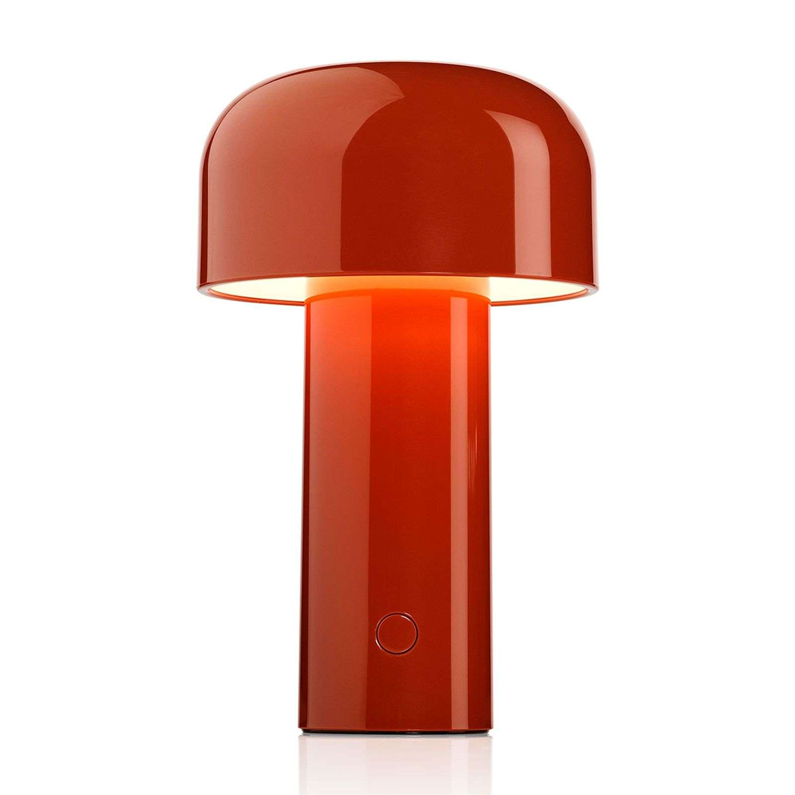 FLOS Bellhop lámpara mesa LED recargable rojo teja