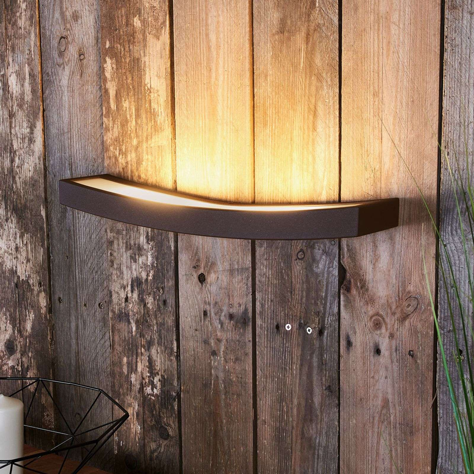 Lámpara LED de pared Dolce, luz indirecta, 50 cm