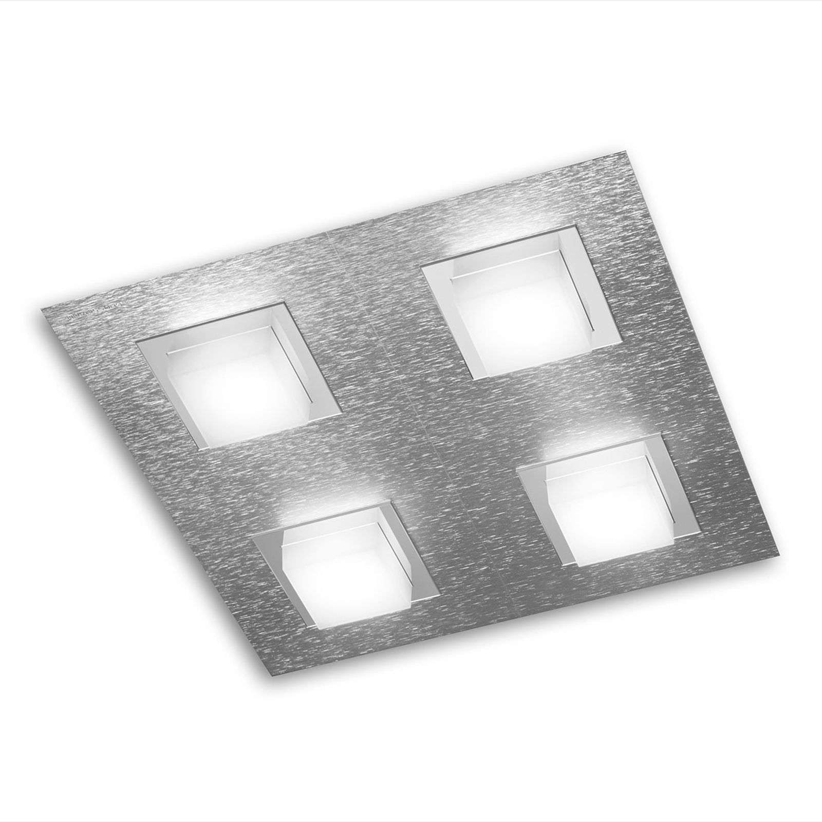 GROSSMANN Basic plafón LED, aluminio