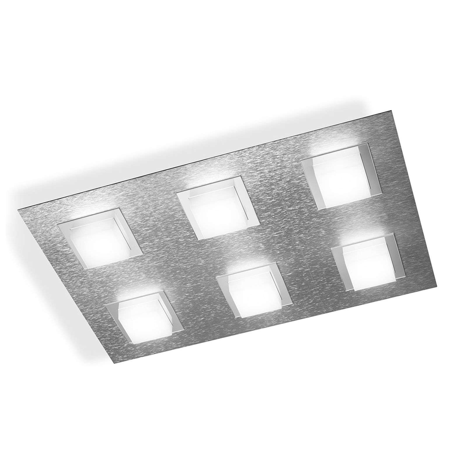 GROSSMANN Basic plafón LED, rectangular aluminio