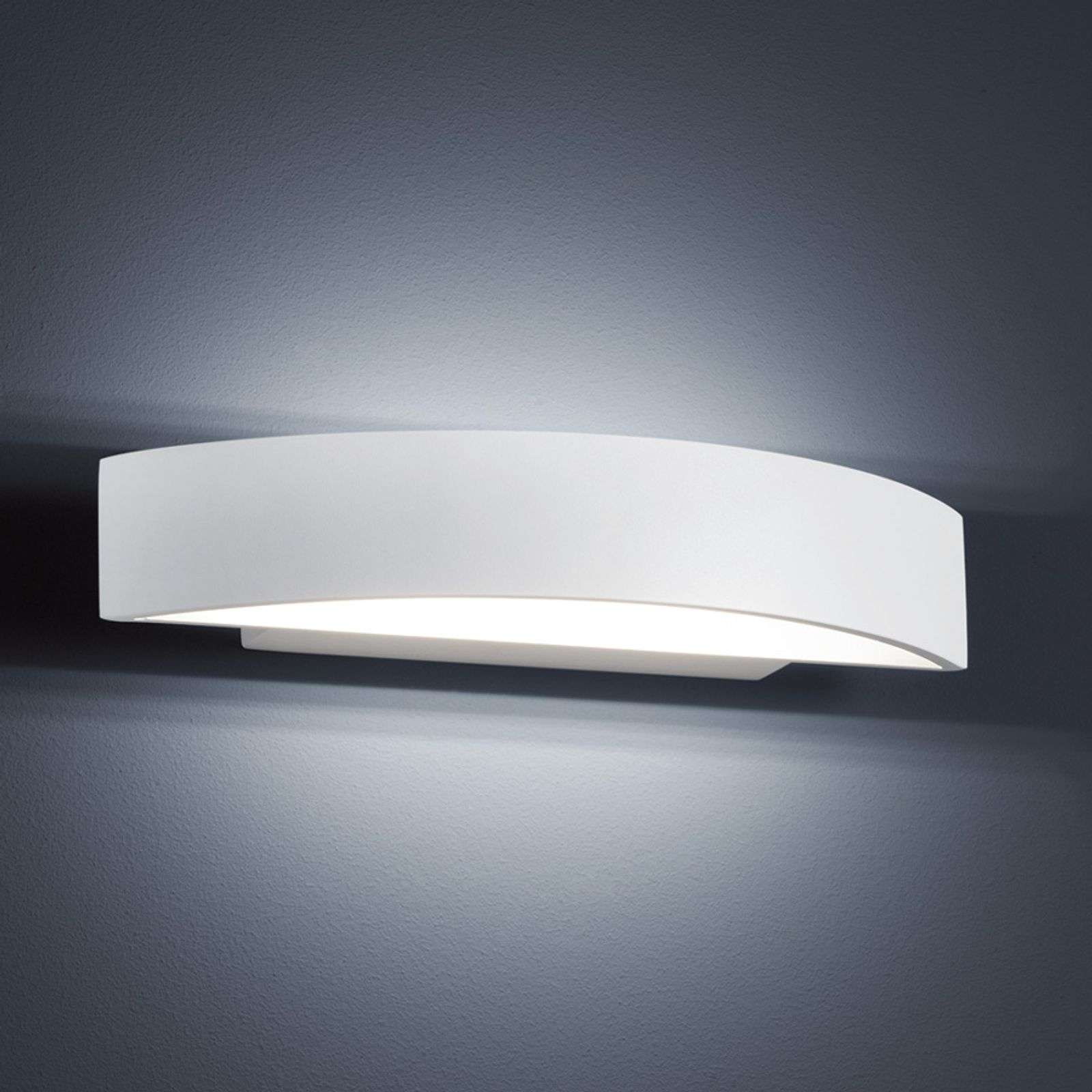 Lámpara LED de pared Yona en blanco mate, 27,5 cm