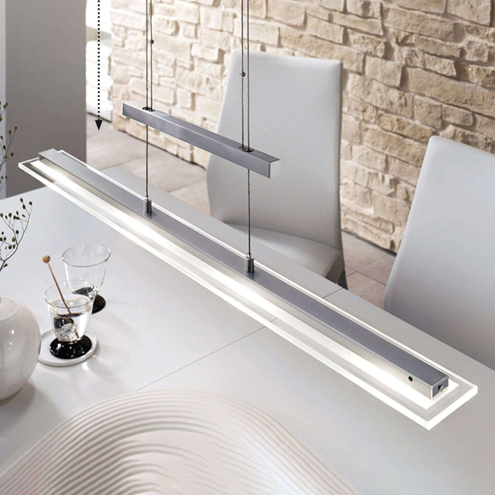 Lámpara colgante LED Tenso tunable white, 88 cm