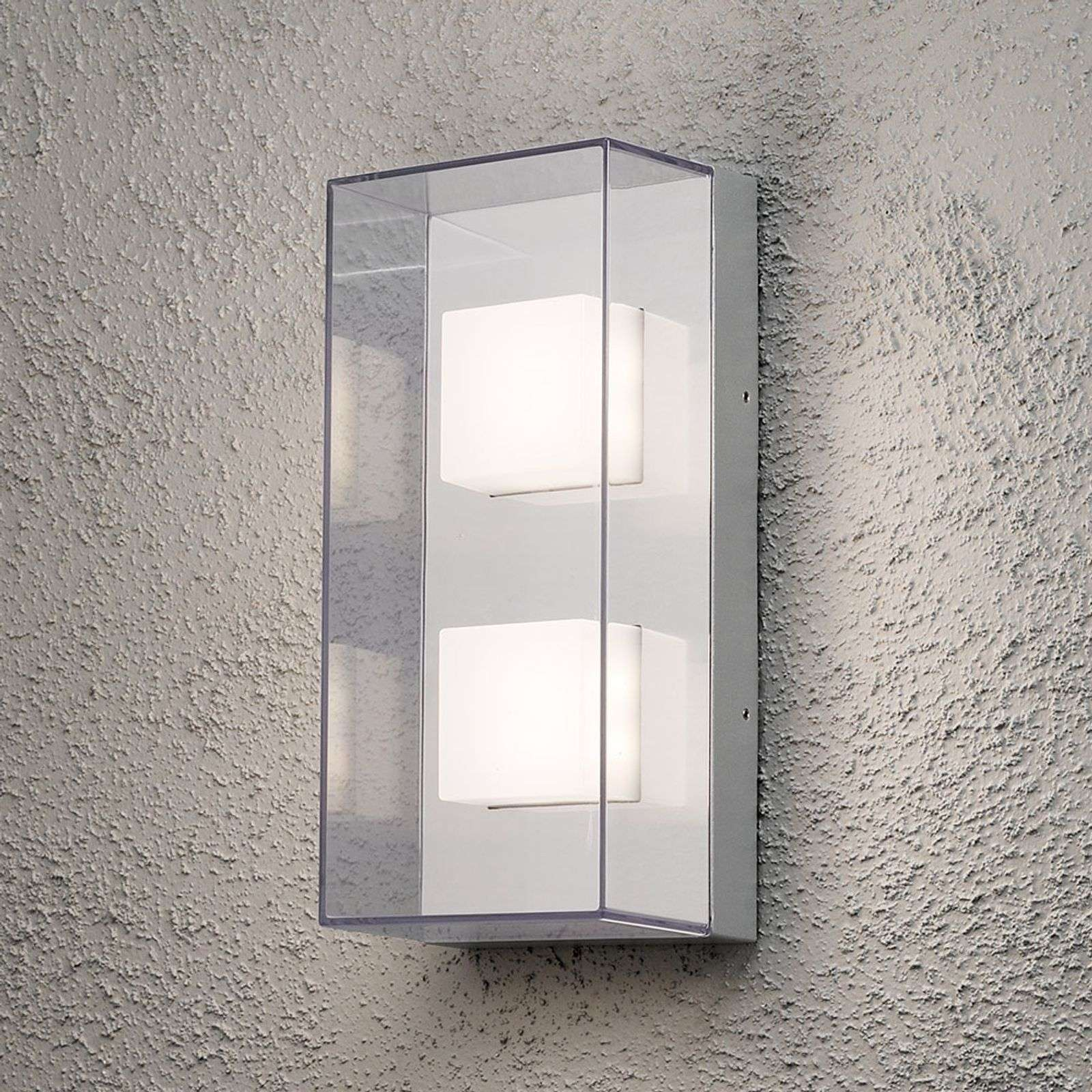 Aplique rectangular de pared exterior LED Sanremo