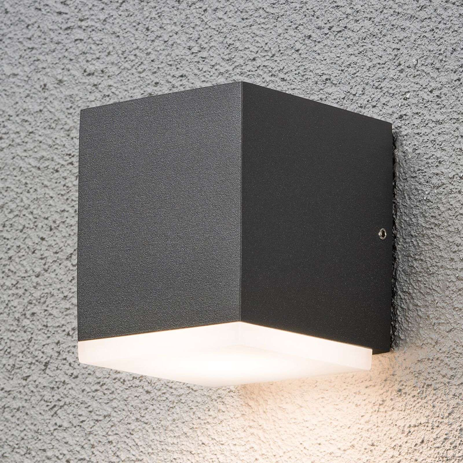 Aplique cuadrado de pared exterior LED Monza