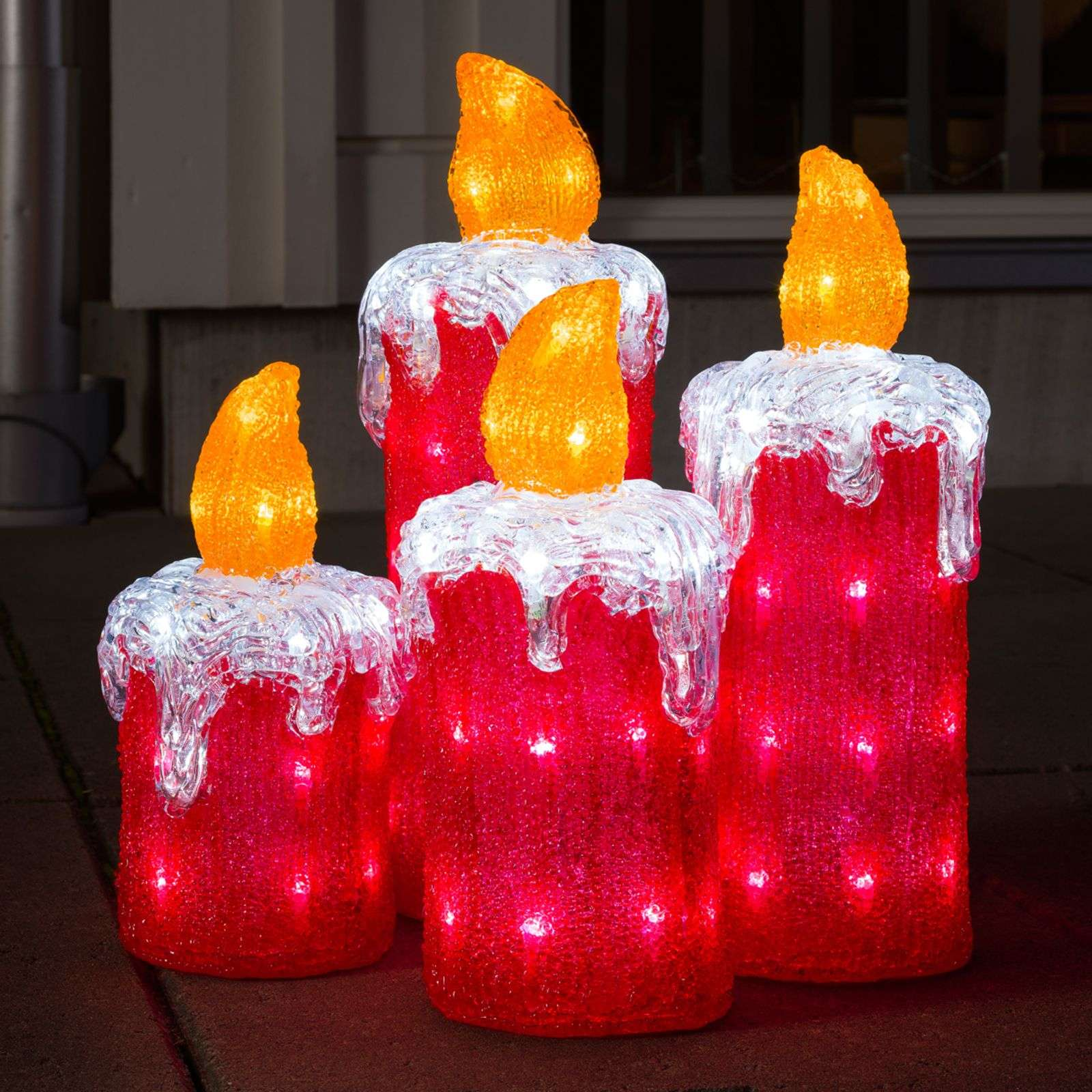 Set de 4 velas de Adviento, decoración exterior