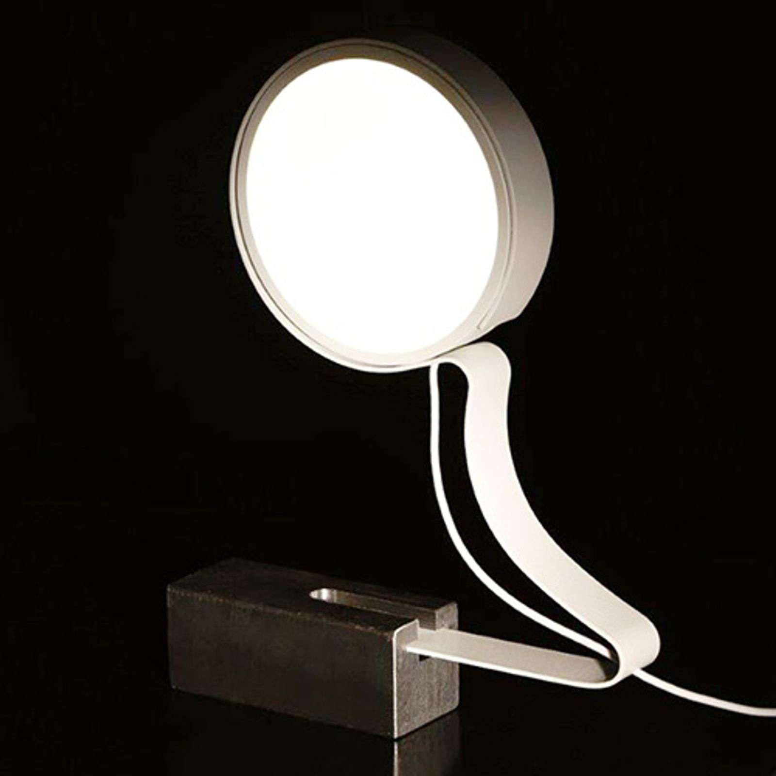 Lámpara de mesa LED DND Profile en blanco