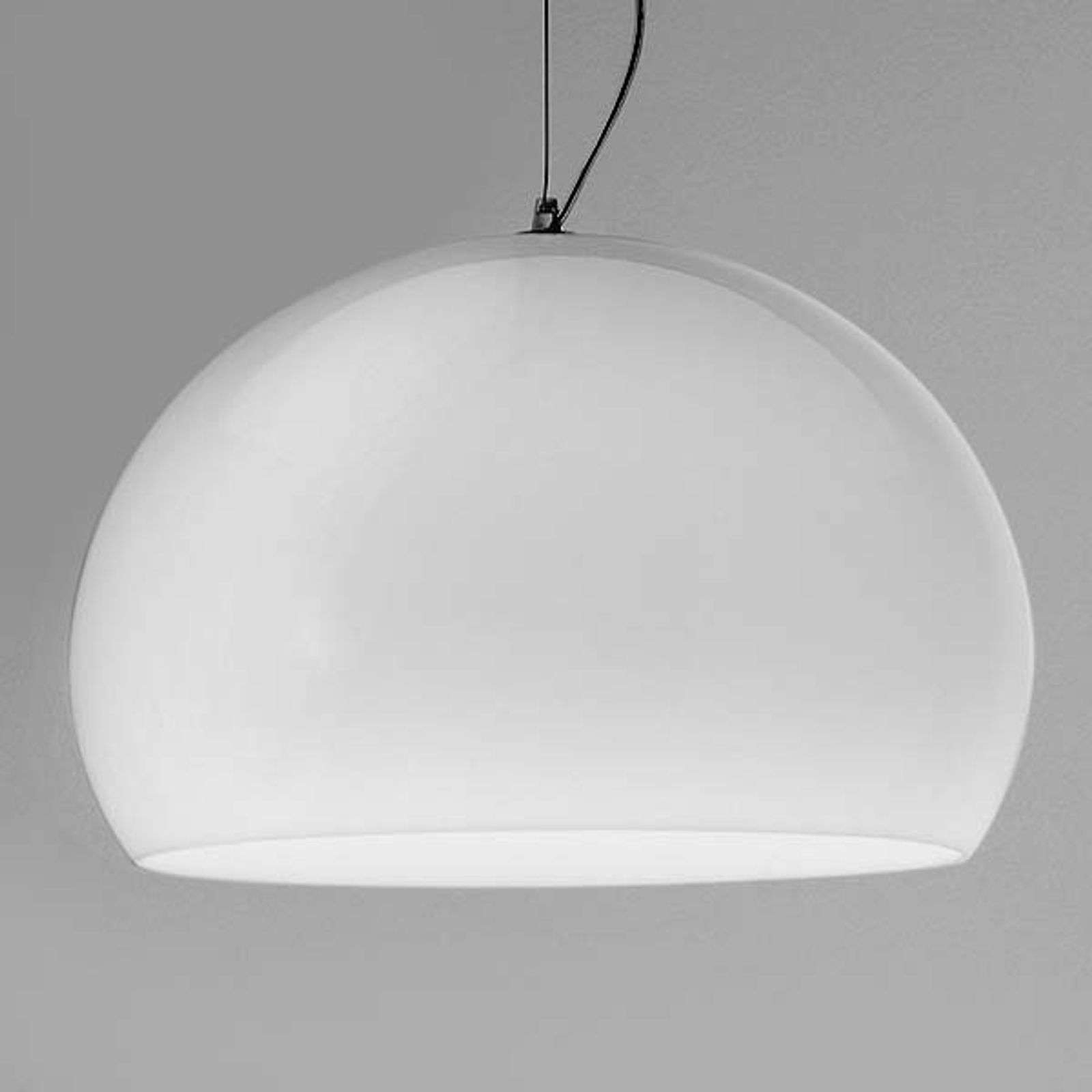 Lámpara colgante LED de diseño Big FL/Y, blanco