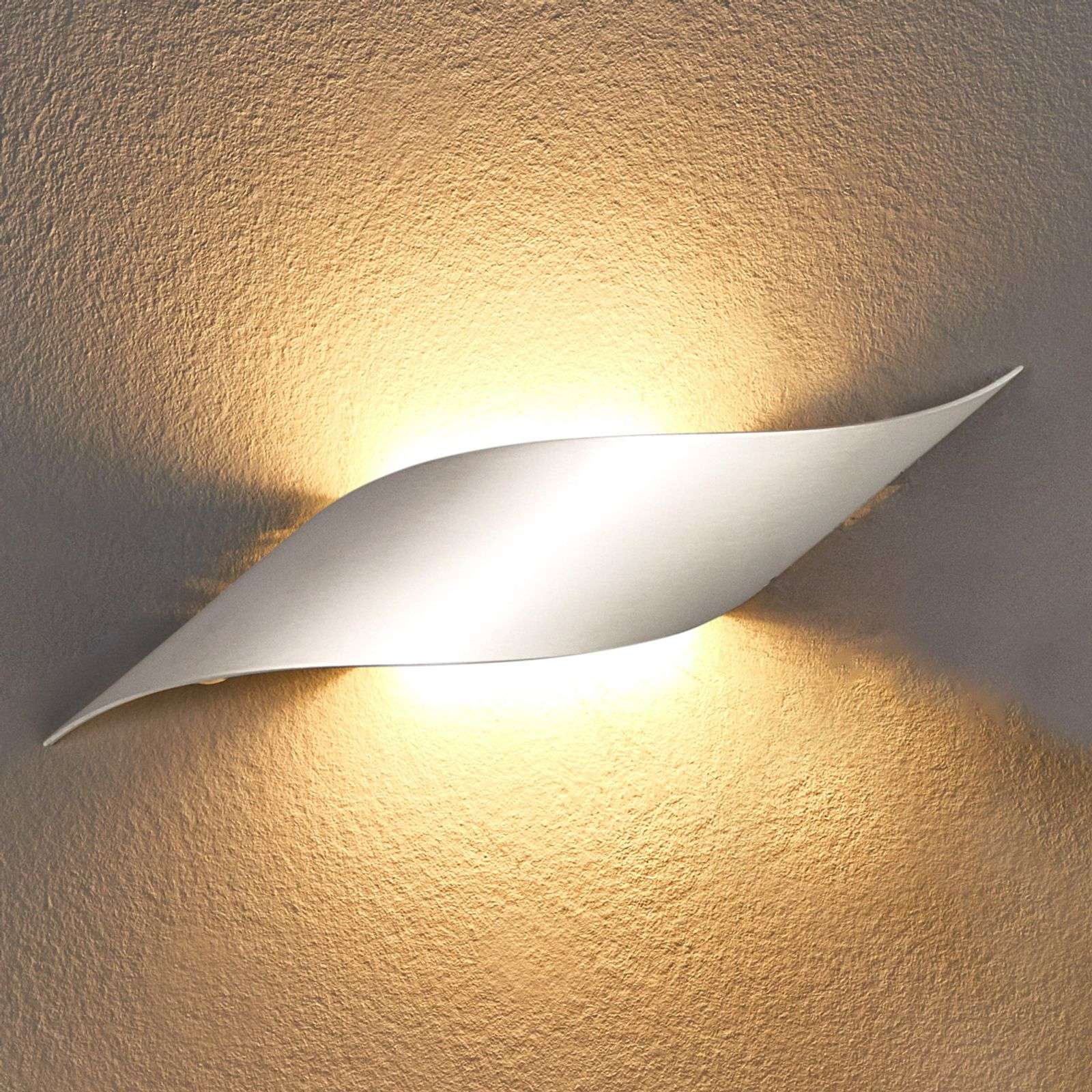 Lámpara de pared LED Rizz 34,5 cm, aluminio