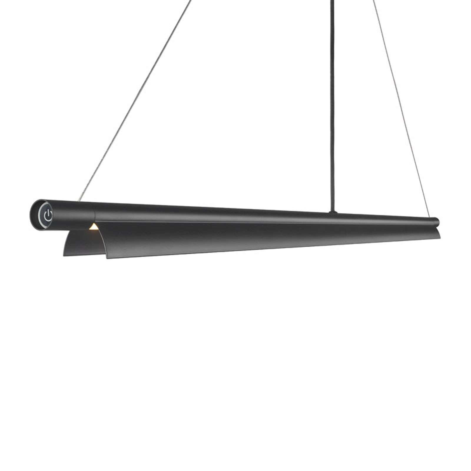 Lámpara colgante LED Space B alargada, negro
