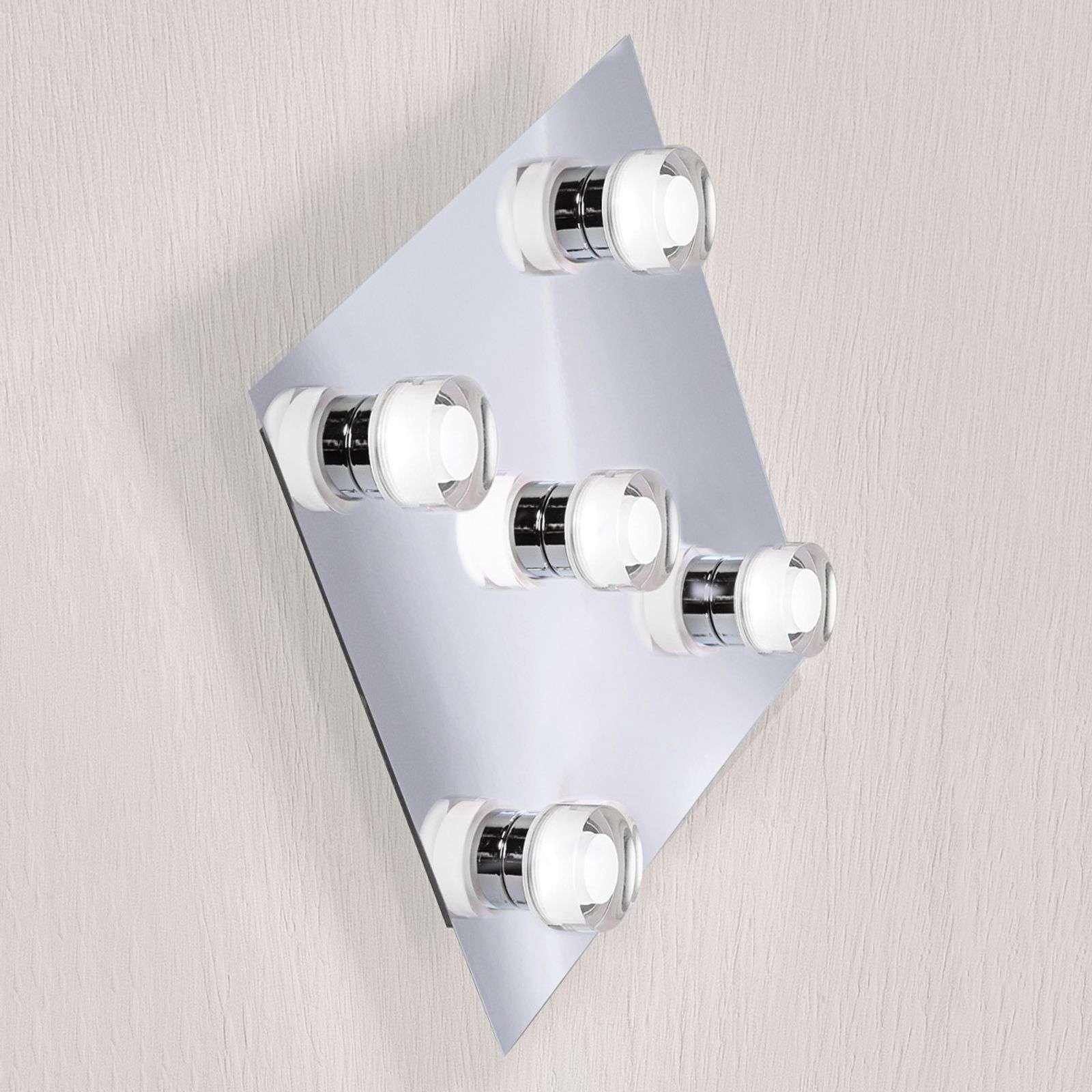 Lámpara de pared LED Gilian cuadrangular, 5 focos