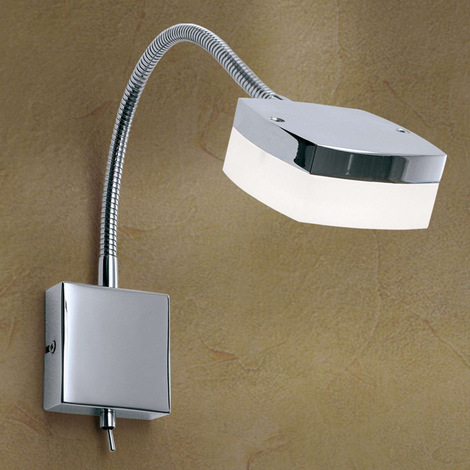 Lámpara de pared LED Narek con cuello de cisne
