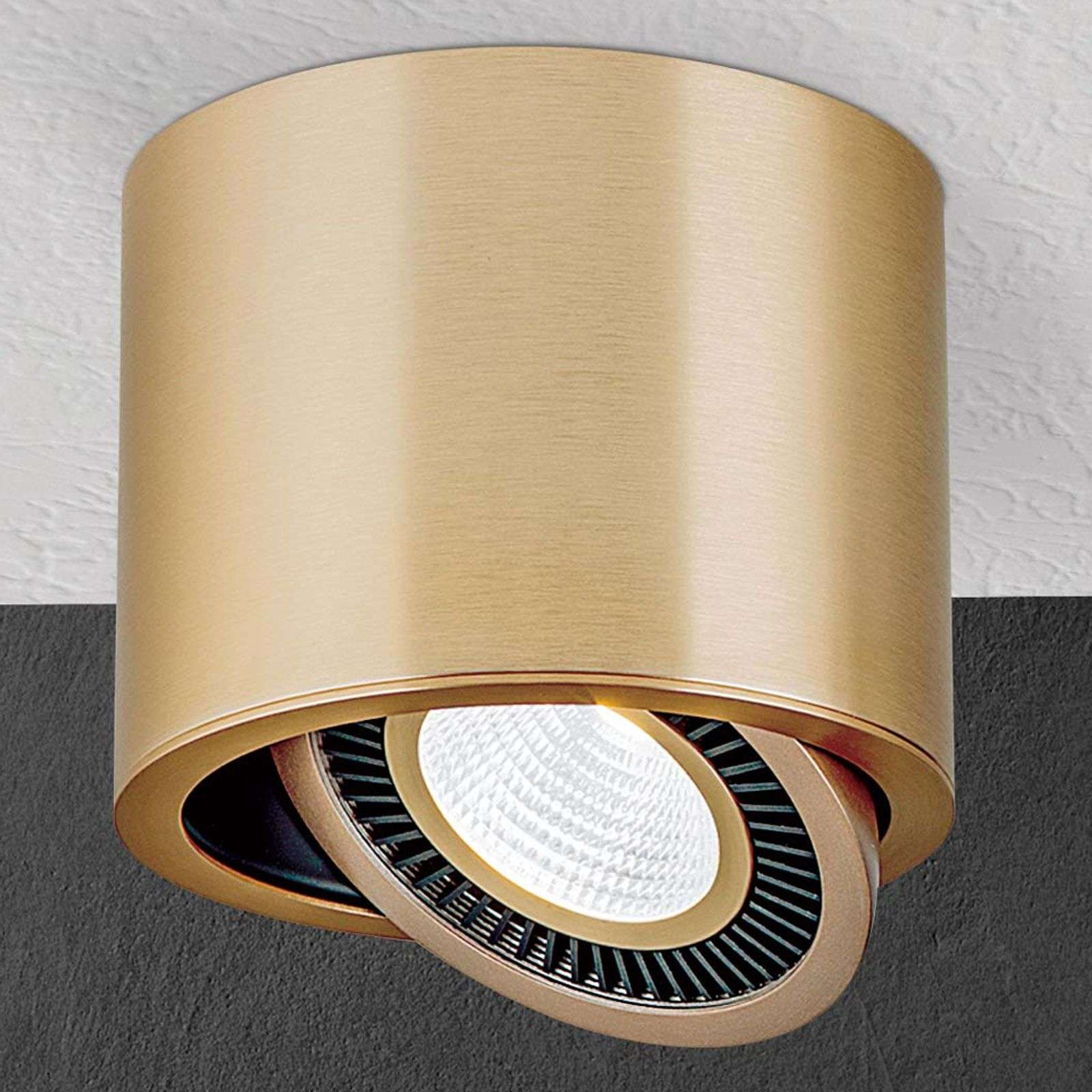 Foco LED de techo Sofya en color dorado