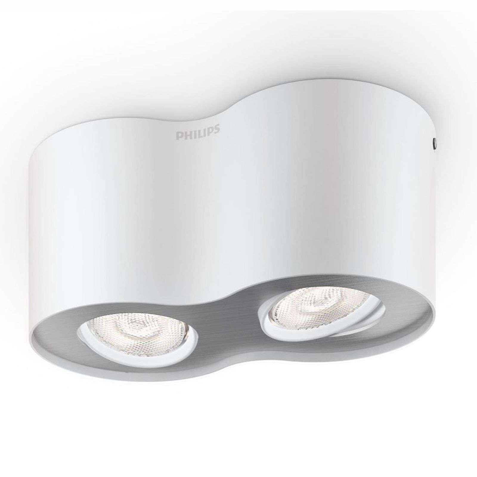 Foco LED Phase de 2 brazos en color blanco