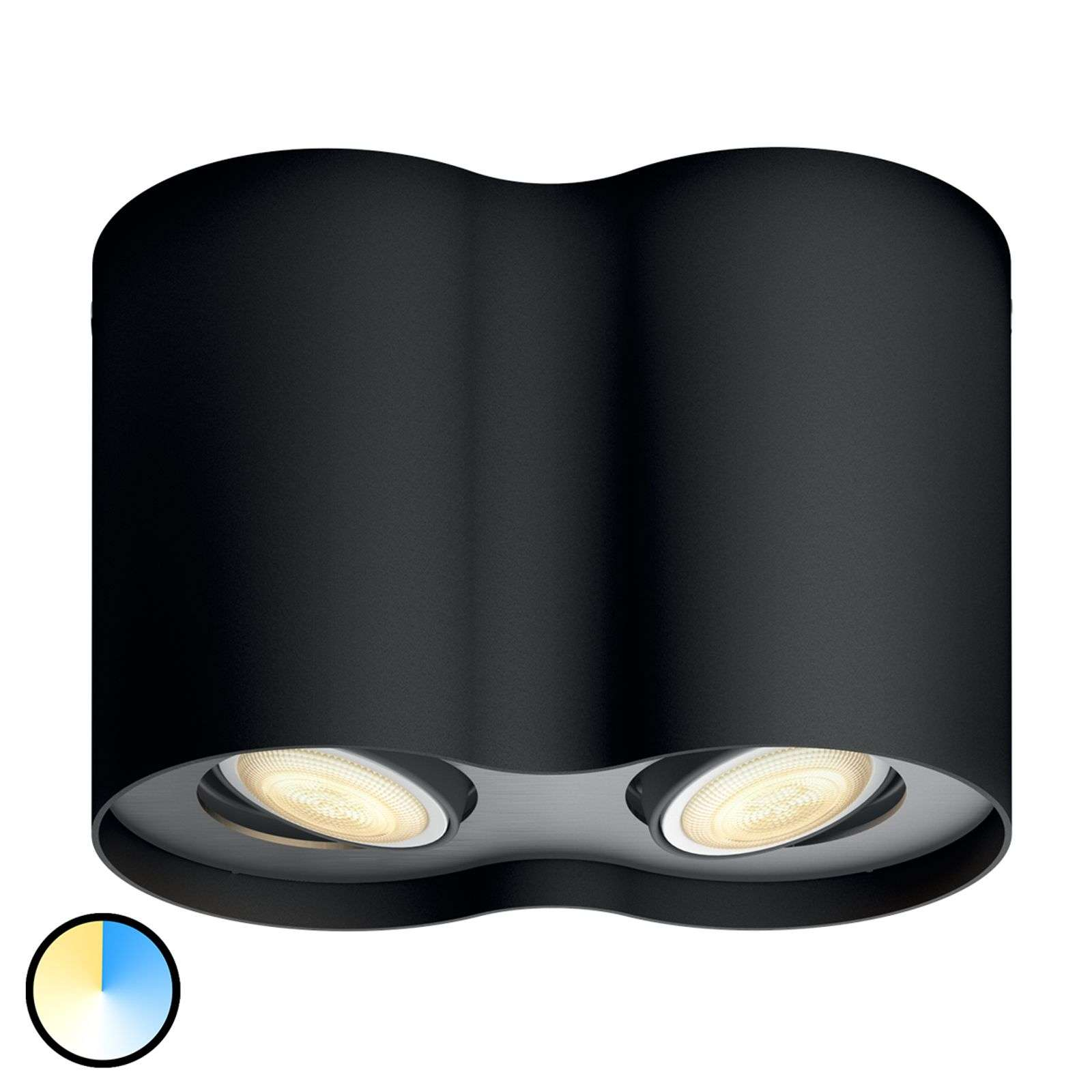Philips Hue White Ambiance Pillar 2 luces negro