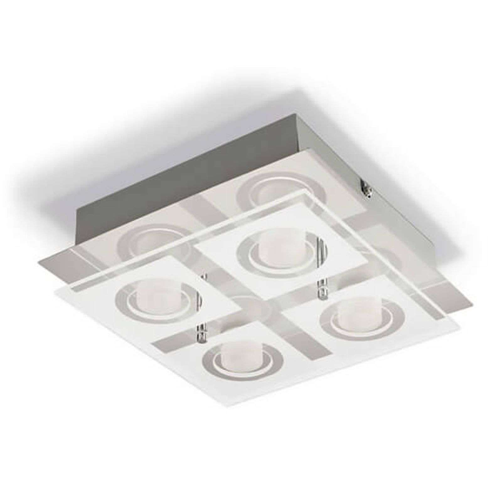 Plafón LED de 4 brazos Polygon