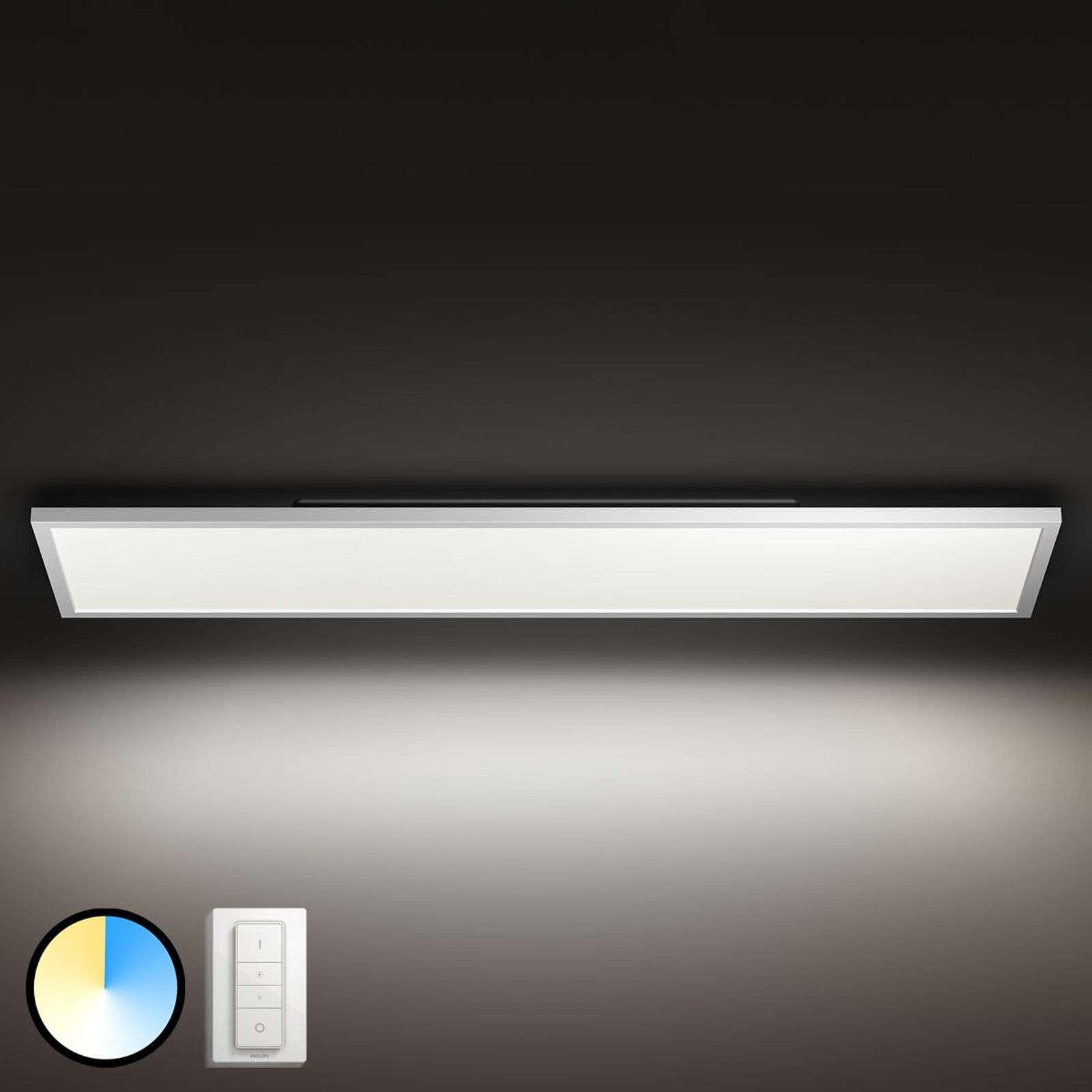 Panel Philips Hue Aurelle rectangular, 120 x 30 cm