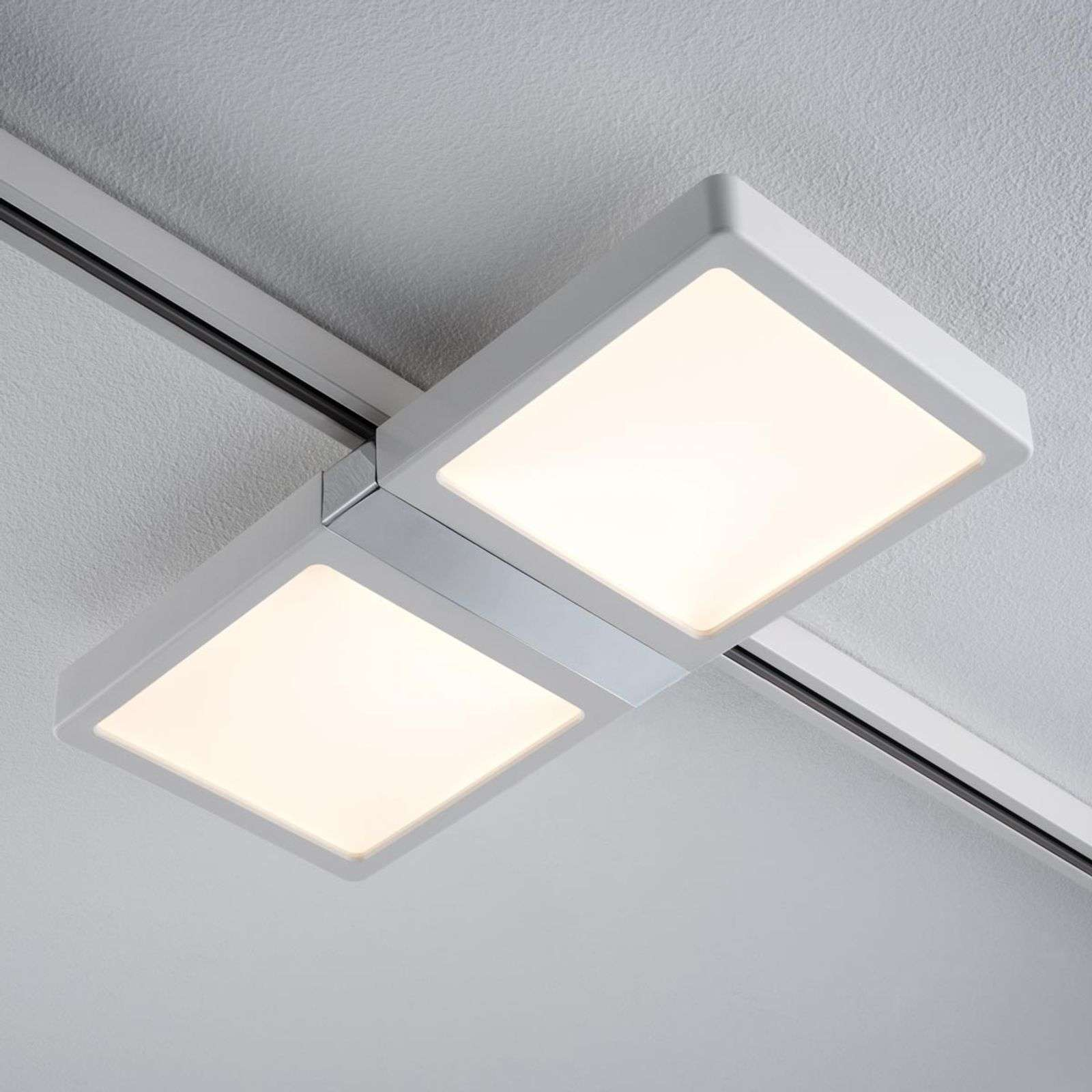 Panel LED Double blanco p. riel en U-1.